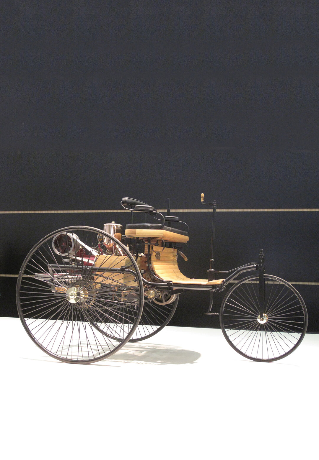 The Benz Patent-Motorwagen replica at Mercedes-Benz Museum Stuttgart | Freewheeling | Gautam Sen and Avik Chattopadhyay | STIRworld
