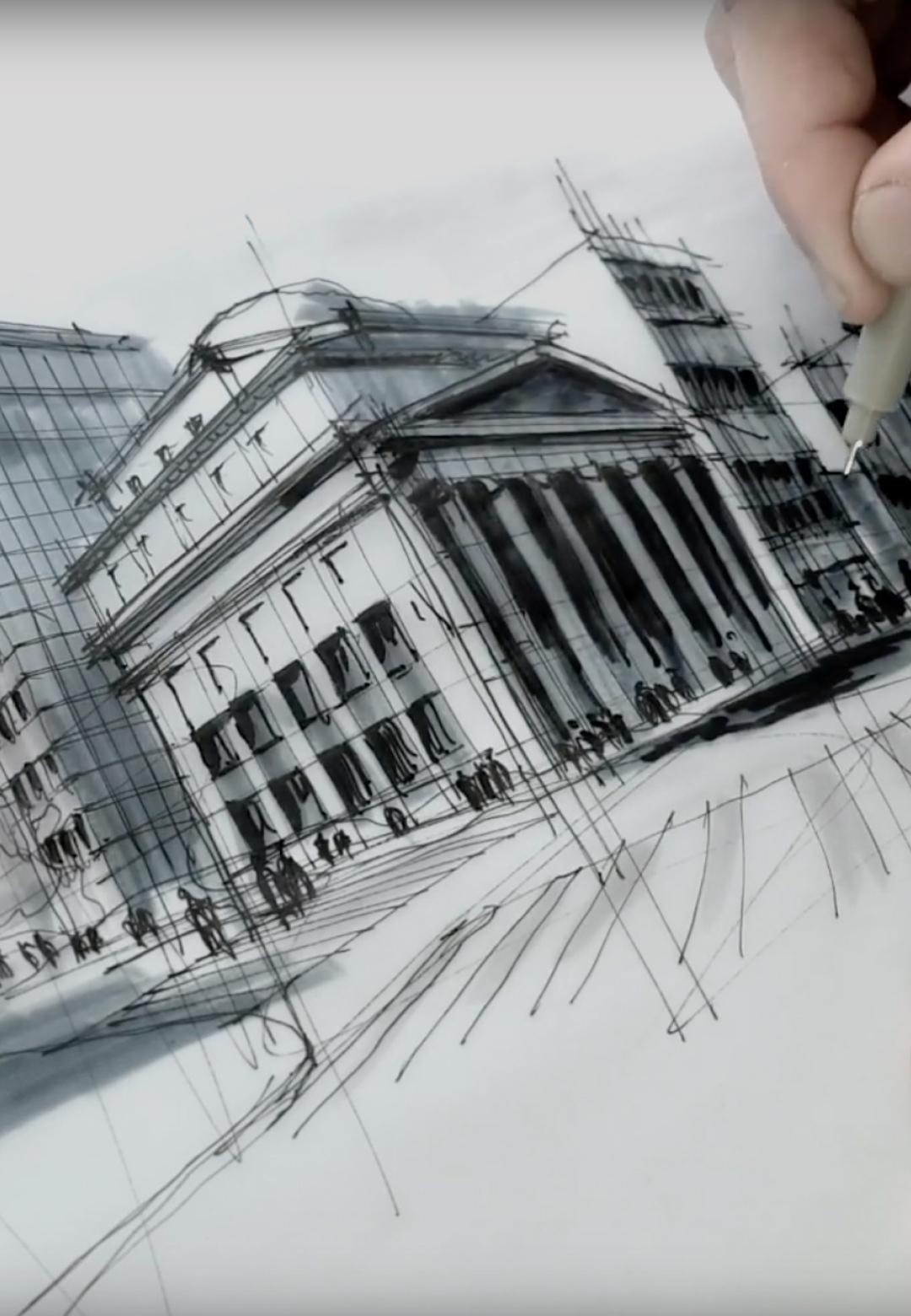 Sketching the Icecream Museum, San Francisco | Dan Hogman | STIRworld
