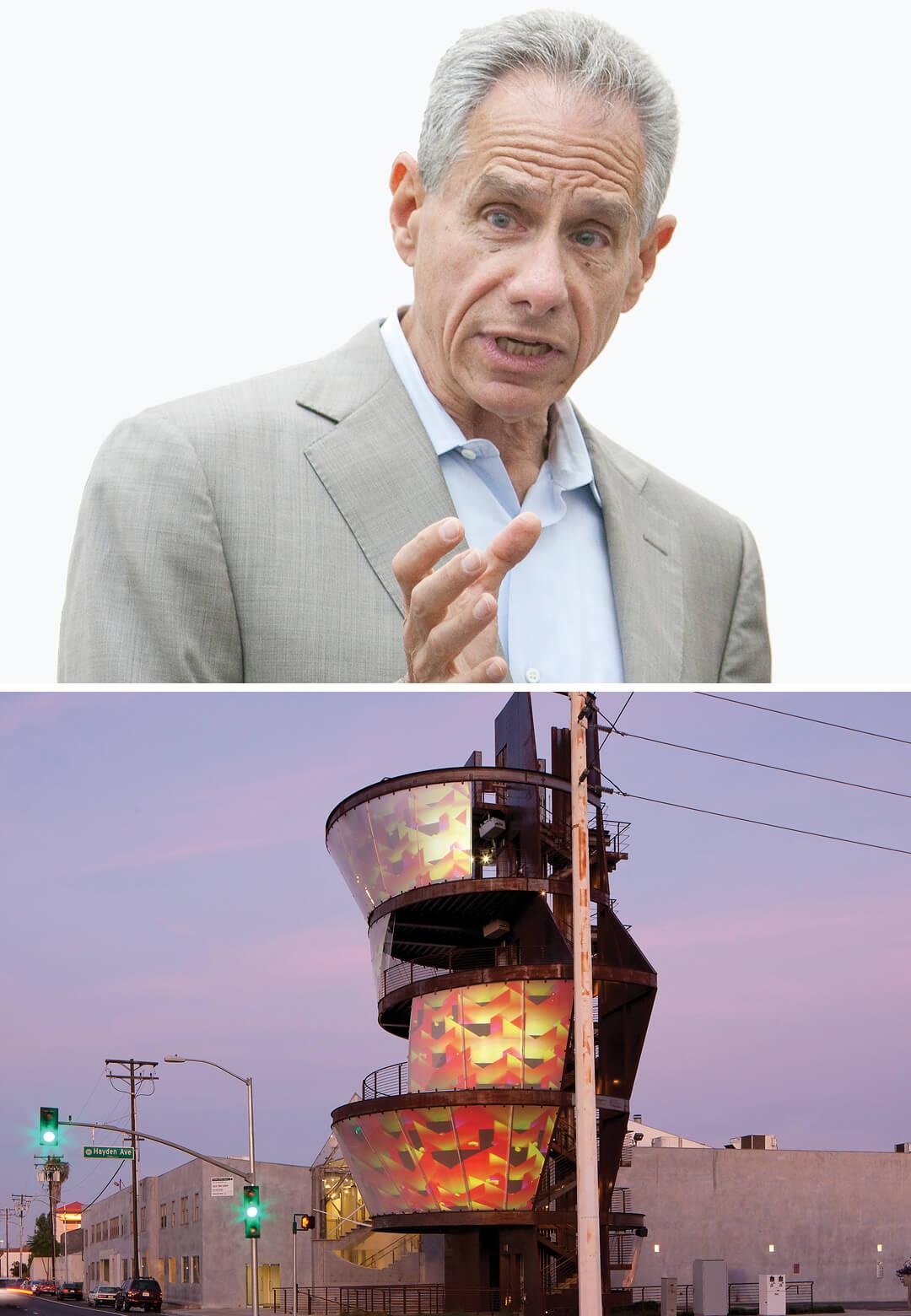Left: Eric Owen Moss, Right: Samitaur Tower, Culver City, Los Angeles, USA | Eric Owen Moss Architects | STIRworld