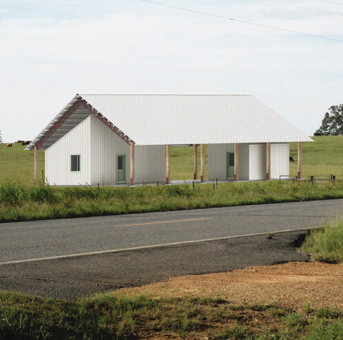 Architecture students at Rural Studio build their first open-ended kit house