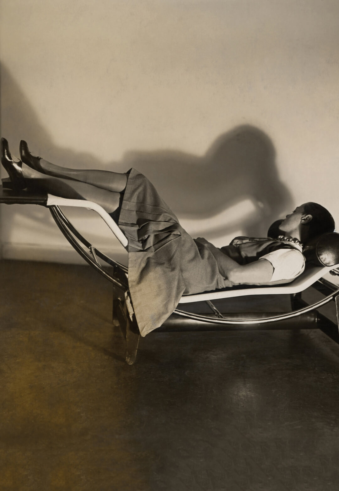 Charlotte Perriand on the Chaise longue basculante, B306, 1929 – Le Corbusier, P. Jeanneret, C. Perriand, circa 1928 | Charlotte Perriand | Charlotte Perriand: The Modern Life | STIRworld