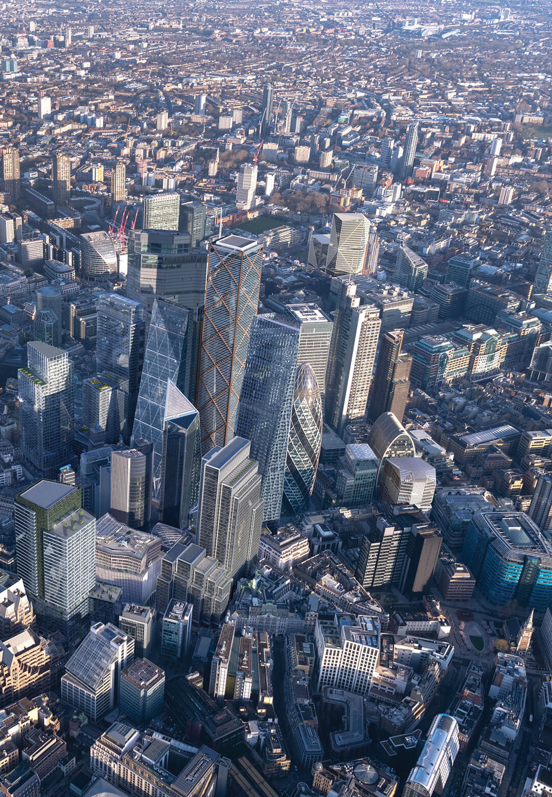 Visualisation of the City of London's skyline in the mid-2020s, including ten buildings currently under construction, approved, or that the City has resolved to approve   Square Mile   John Jervis   STIRworld