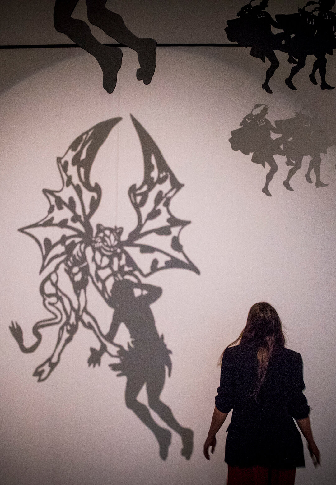 Recreated shadow puppets from the Parisian cabaret Le Chat Noir | Into the Night: Cabarets and Clubs in Modern Art | Barbican Centre | STIRworld
