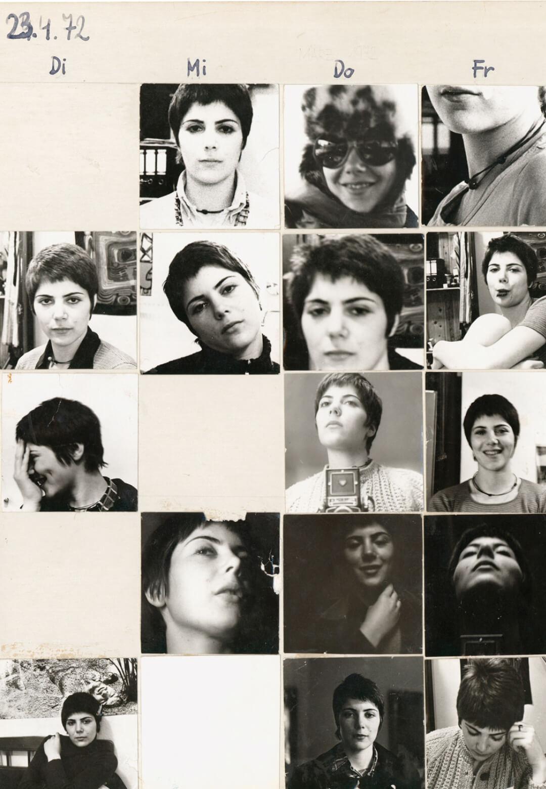 Friedl Kubelka's 'Das erste Jahresportrait', 1972/73 (The First Year Portrait) is the result of her daily self-documentation over a one-year span | Werner Kaligofsky | STIRworld
