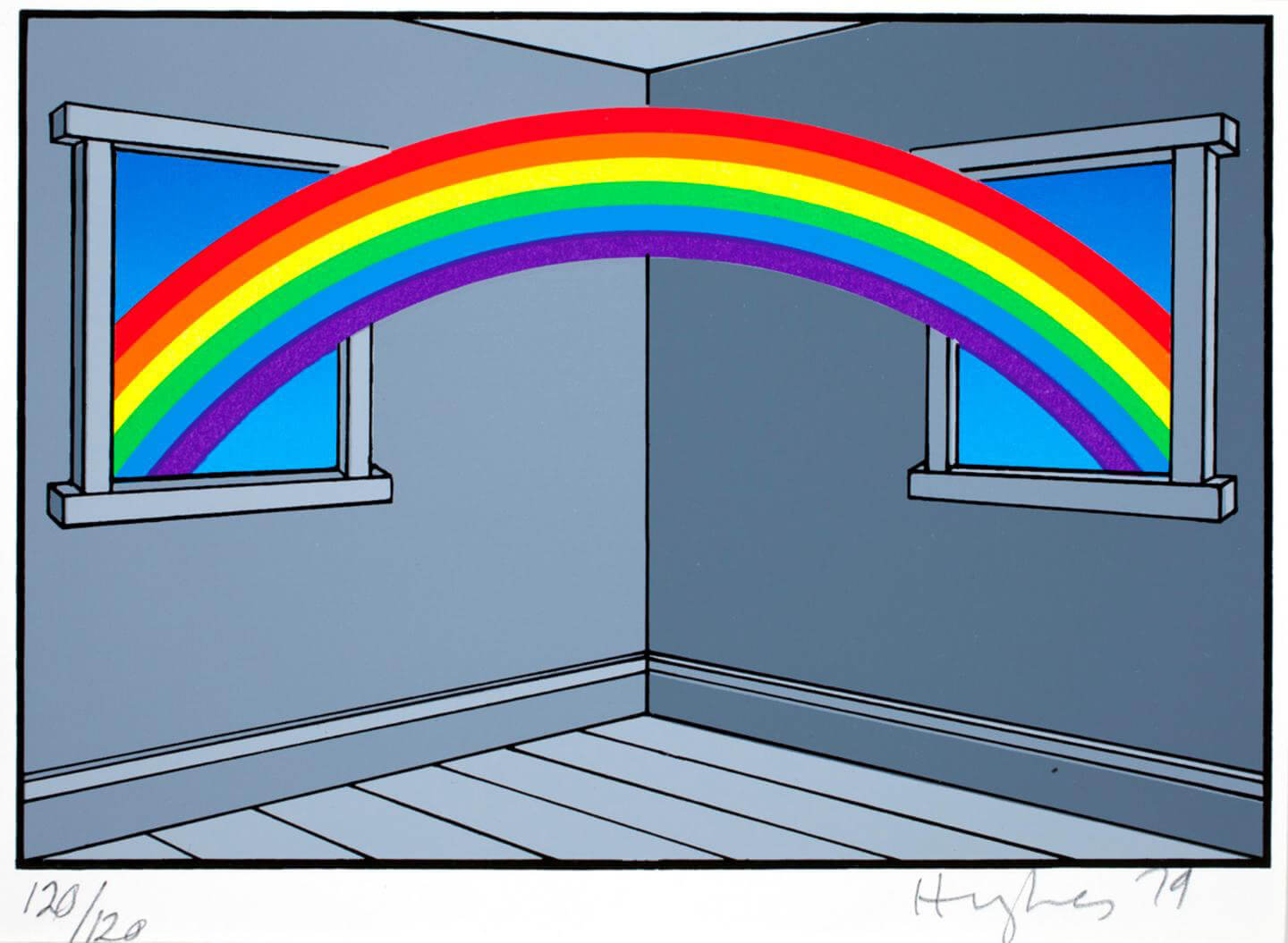The Domestic Life of the Rainbow, screen print on paper, 1979 | Patrick Hughes | STIRworld