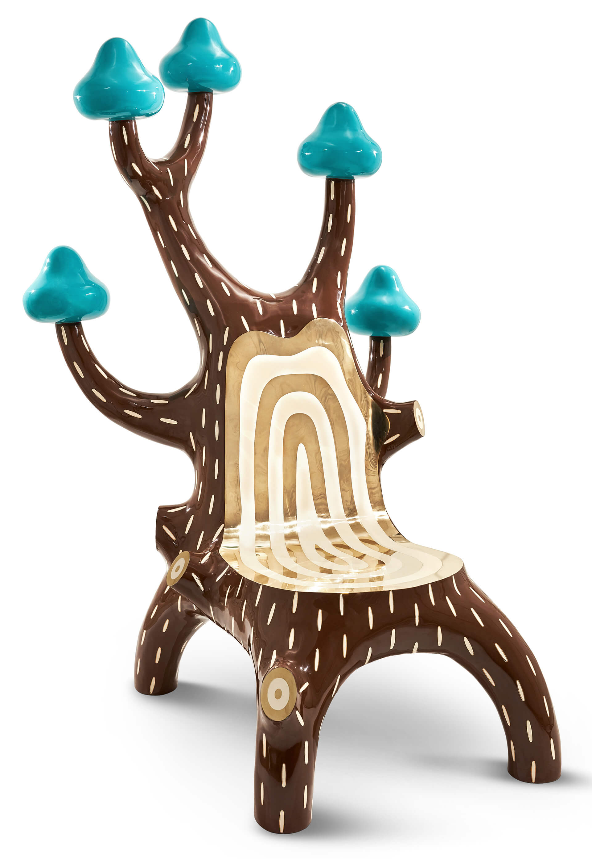 The famous Forest Chair by designer Marcantonio Raimondi Malerba, for Scarlet Splendour | Moments of Affection: Milanese Alliances (M.A.M.A.) | STIRworld