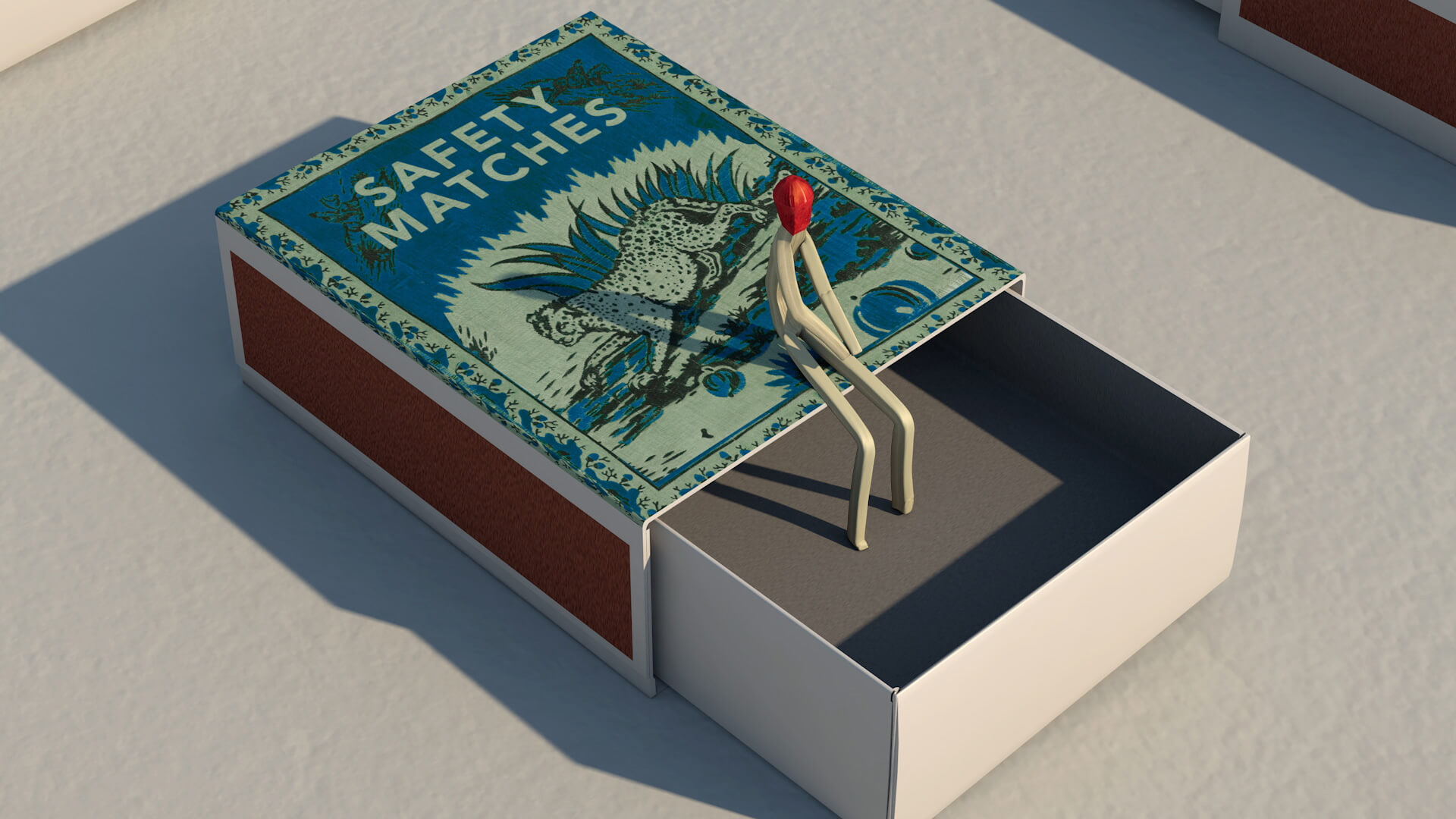 More artwork from the Match Series seen on the artist's Instagram account | Safety Match | Juan Delcan | STIRworld