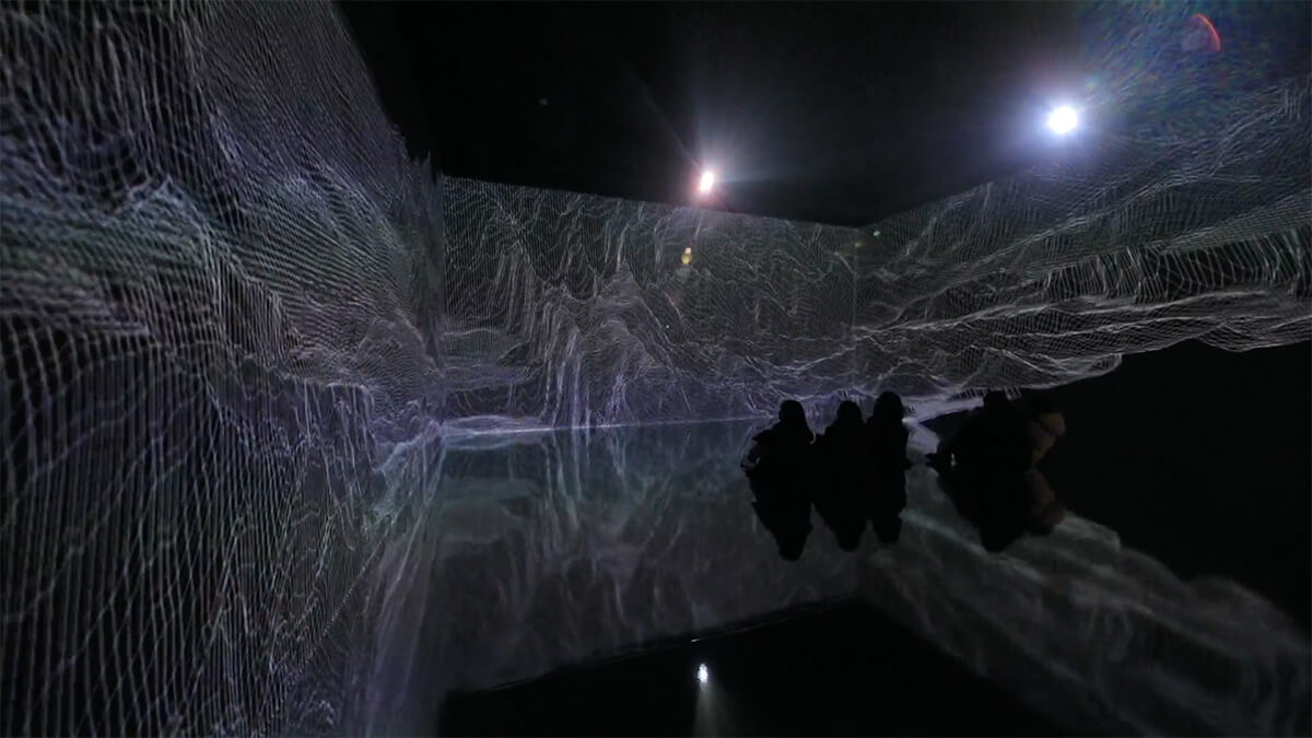 Beyond the Scene, projection mapping installation, 8x8x4(m), 9'30, sound, 2020 | Beyond the Scene | Yiyun Kang | STIRworld