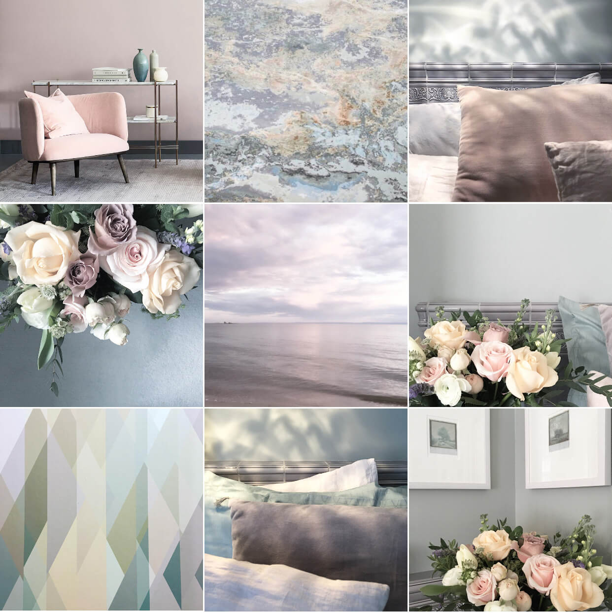A moodboard of new neutrals from Michelle's