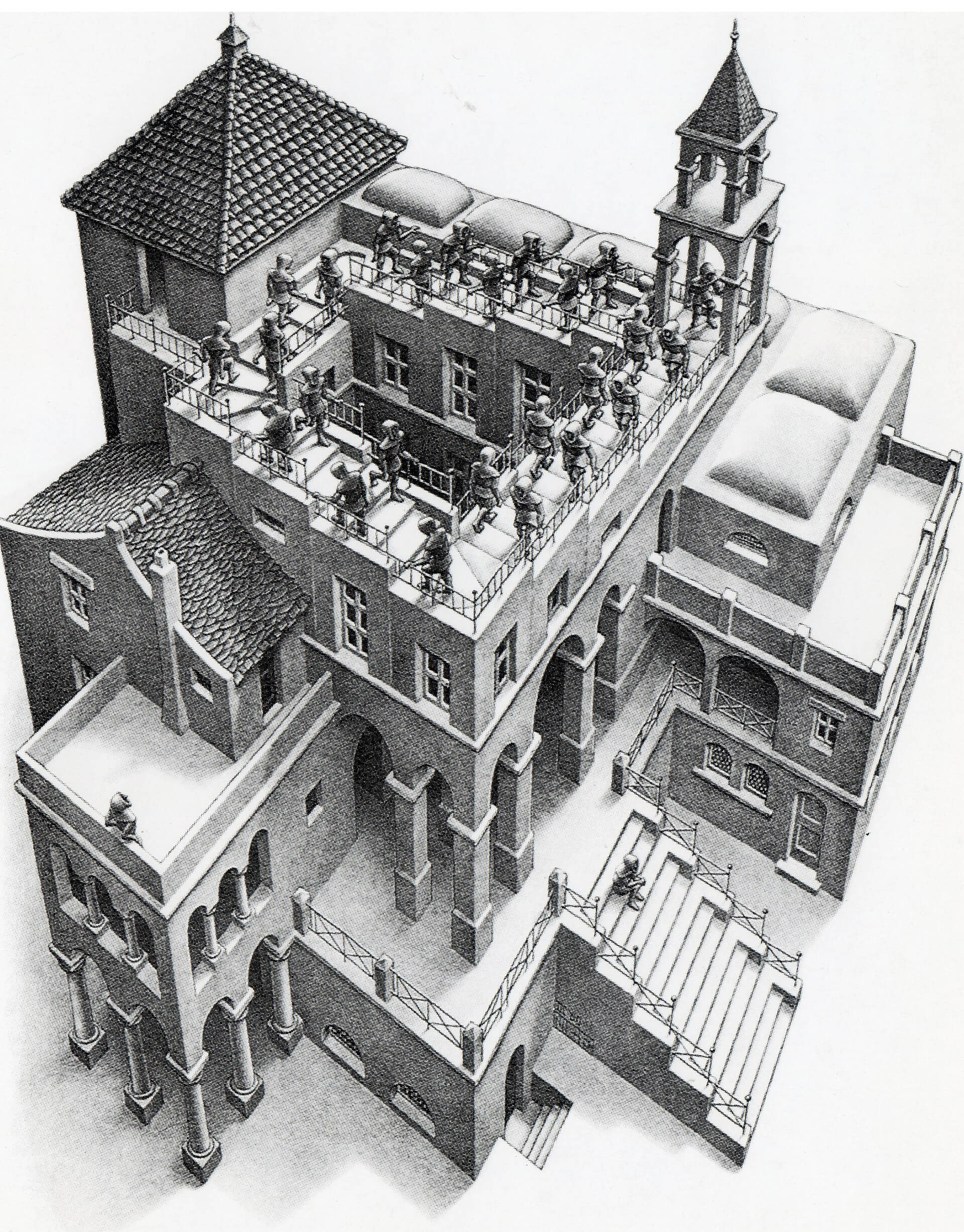 'Ascending and Descending' lithograph with the infinite loop of staircase | Maurits Cornelis Escher | STIRworld