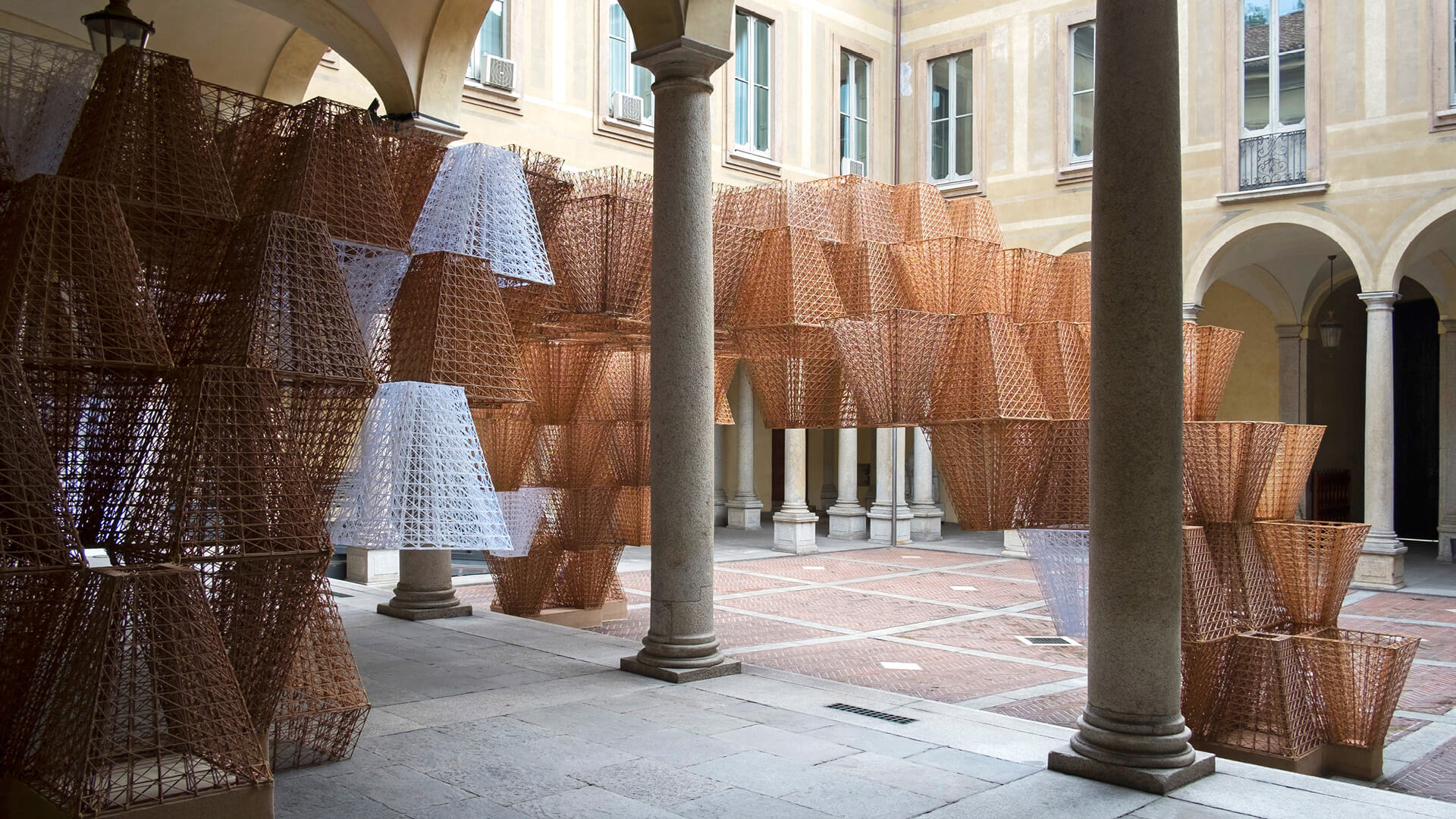 'Conifera' - a 3D printed bioplastic installation designed by Mamou-Mani Ltd in collaboration with COS for the Milan Design Week 2019 | Cross Border Conversations | STIR X LOCO Design | STIRworld