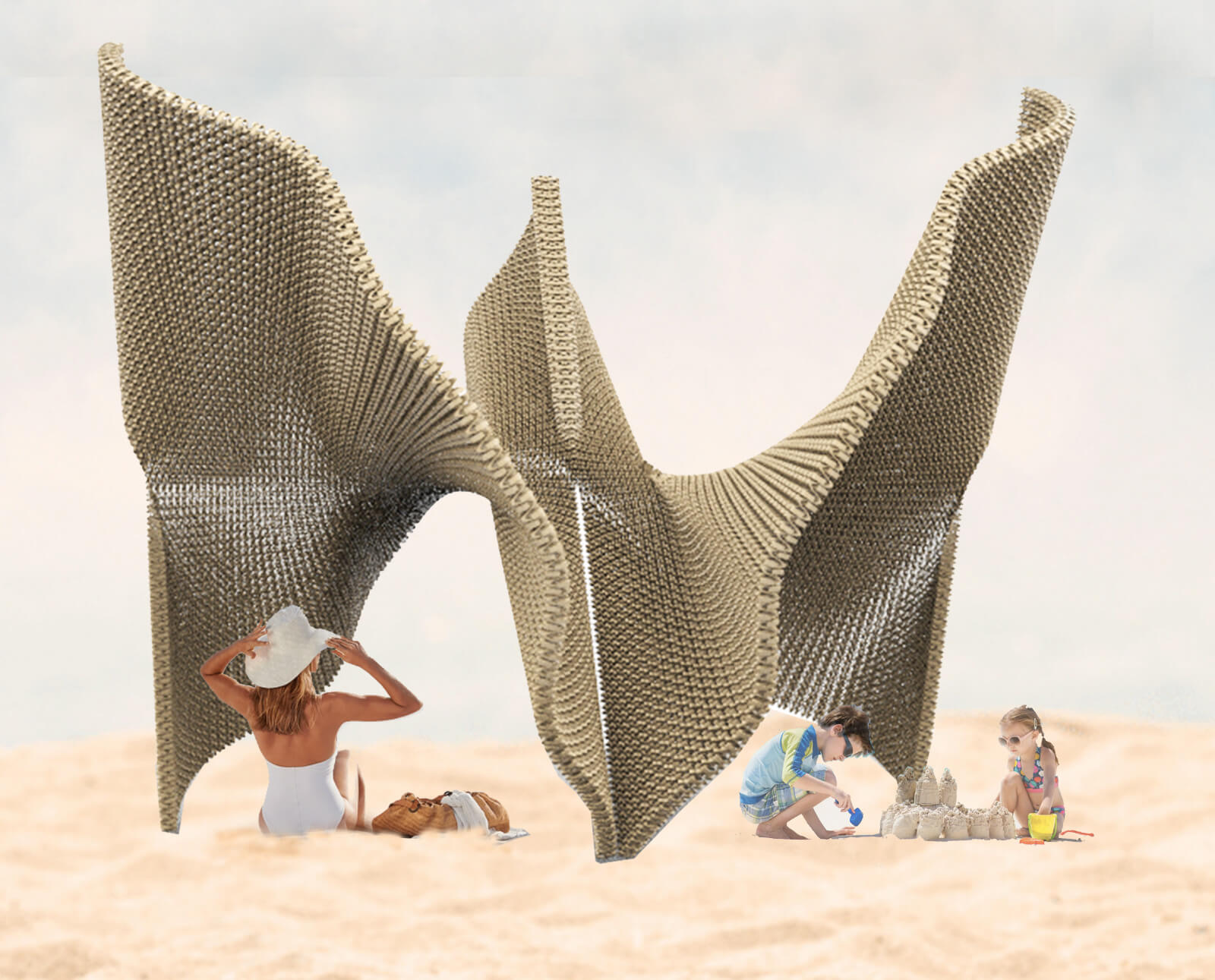 Another iteration of the conceptual pavilion to harness different beach activities | Cross Border Conversations | STIR X LOCO Design | STIRworld