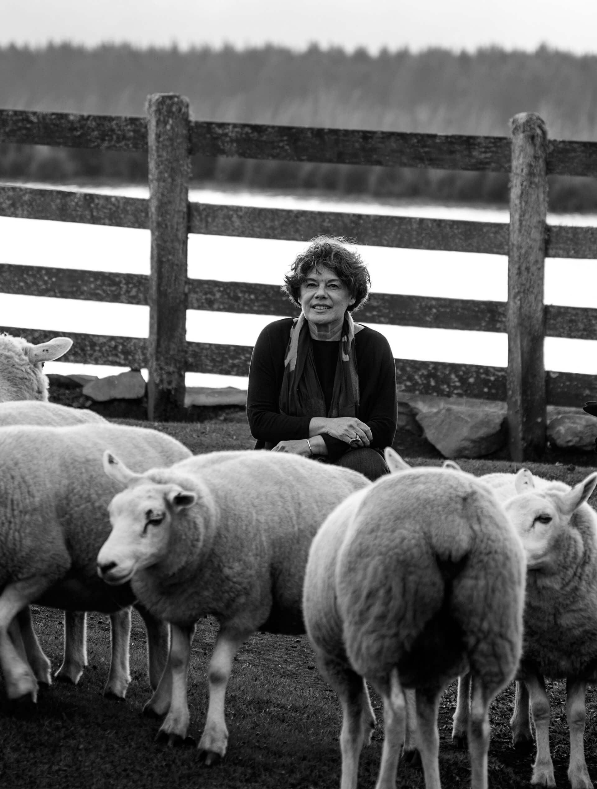 Inês Schertel with her sheep | Made in Brazil: Curated by Campana Brothers | STIR X Script |STIRworld