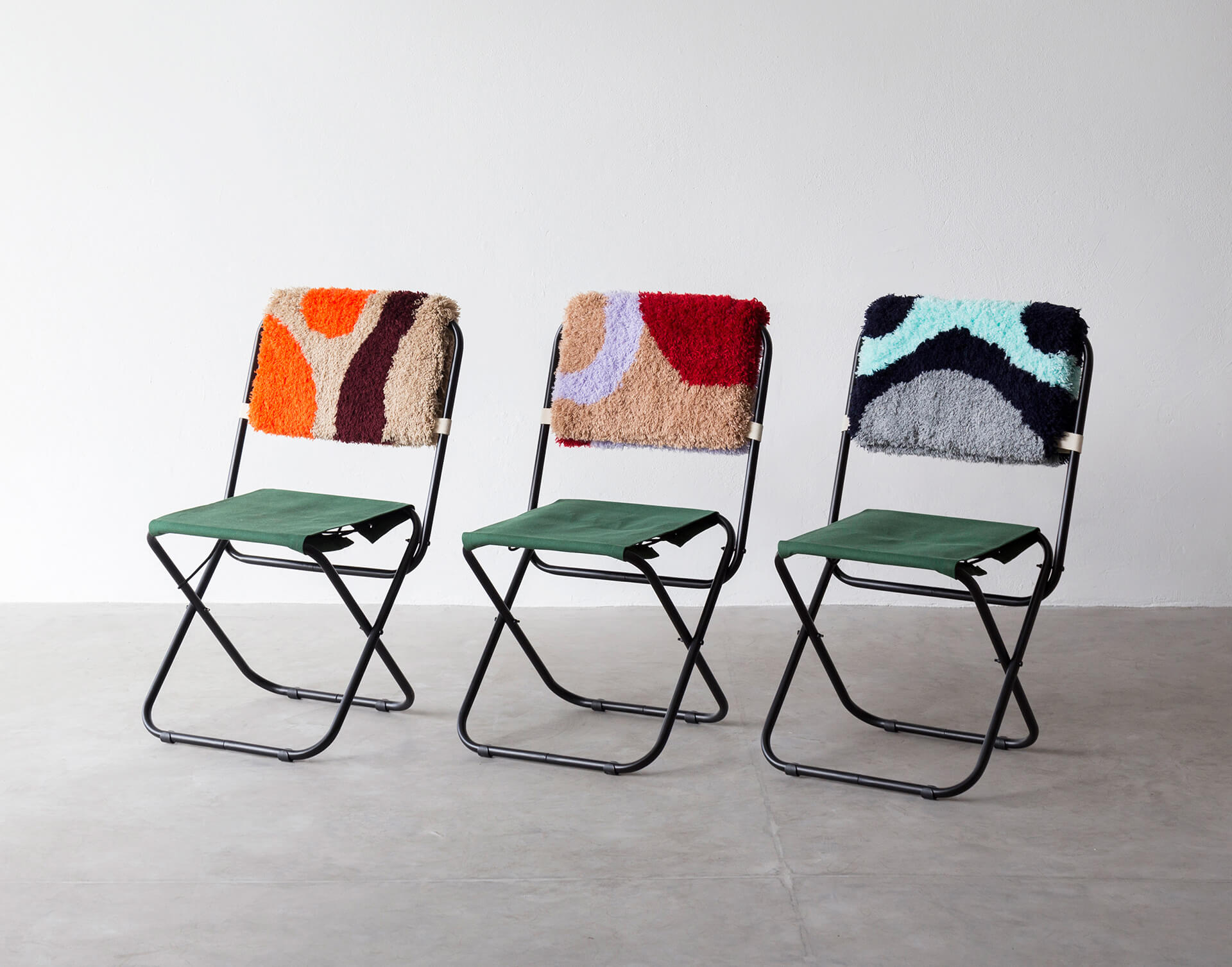 Colourful, tufted chair back covers | Made in Brazil: Curated by Campana Brothers | STIR X Script |STIRworld
