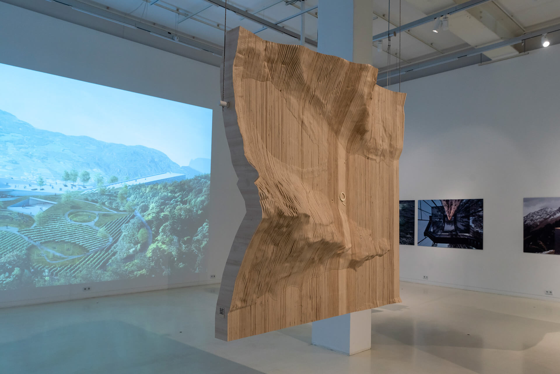 Installation view of Aedes current exhibition Arctic Nordic Alpine – In Dialogue With Landscape Snøhetta | STIRworld