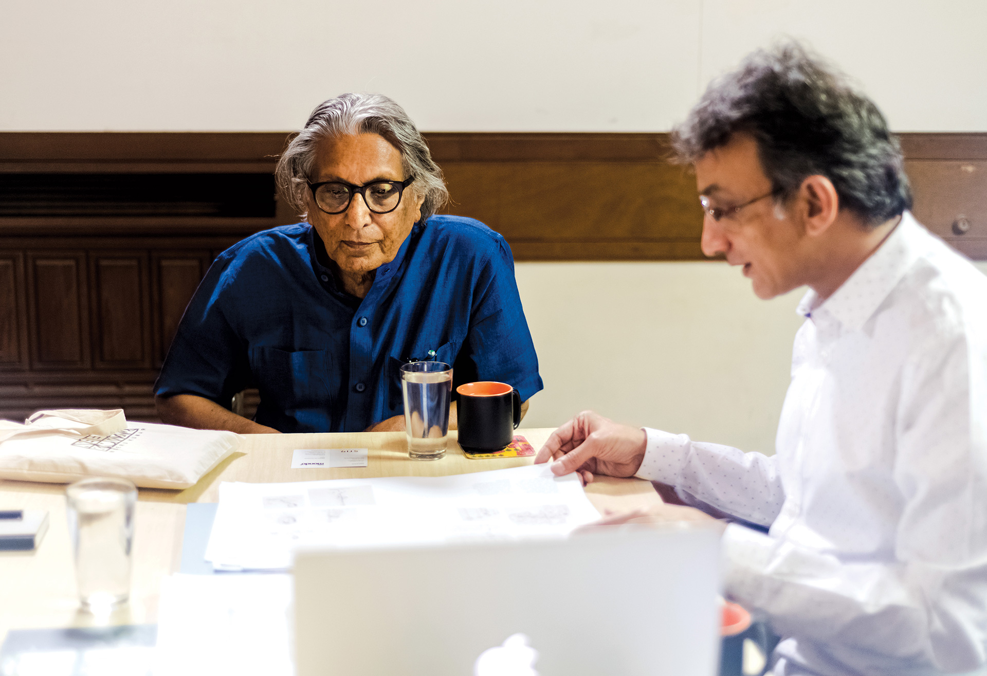 BV Doshi in conversation with Amit Gupta, Founder and Editor-in-Chief, STIRworld at Sangath, Ahmedabad, India | BV Doshi | STIRworld
