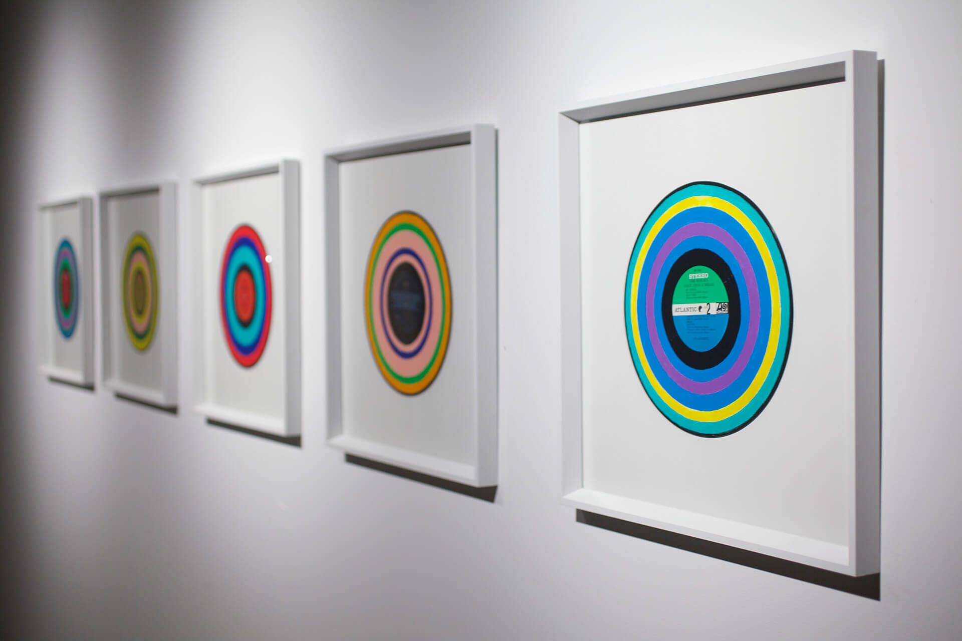 Sonochromatic Records exhibited at Pioneer Works, New York (2014) | Cross Border Conversations | Morag Myerscough X Neil Harbisson | STIR X LOCO Design