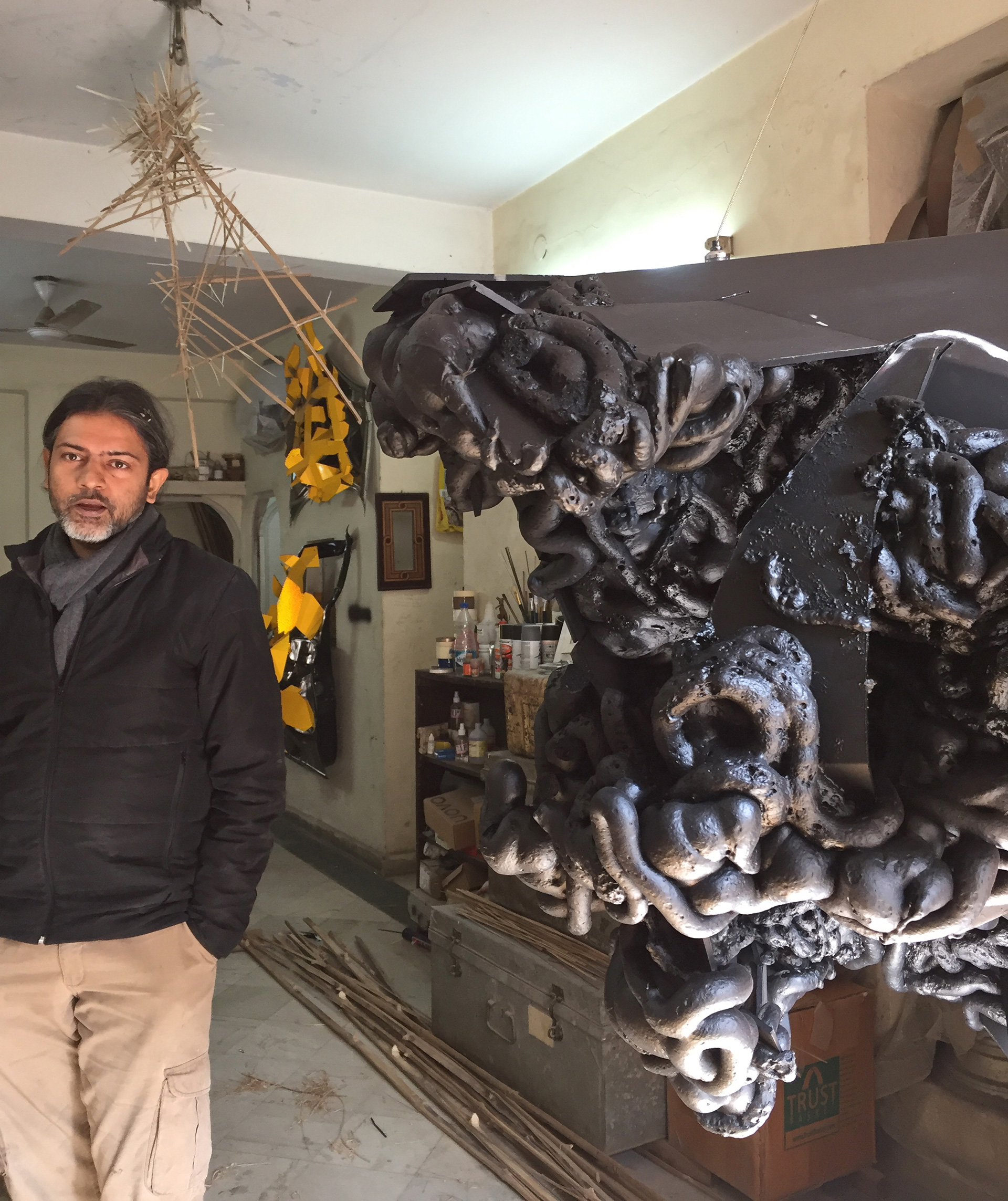 Asim Waqif at his studio in New Delhi| Asim Waqif| STIR