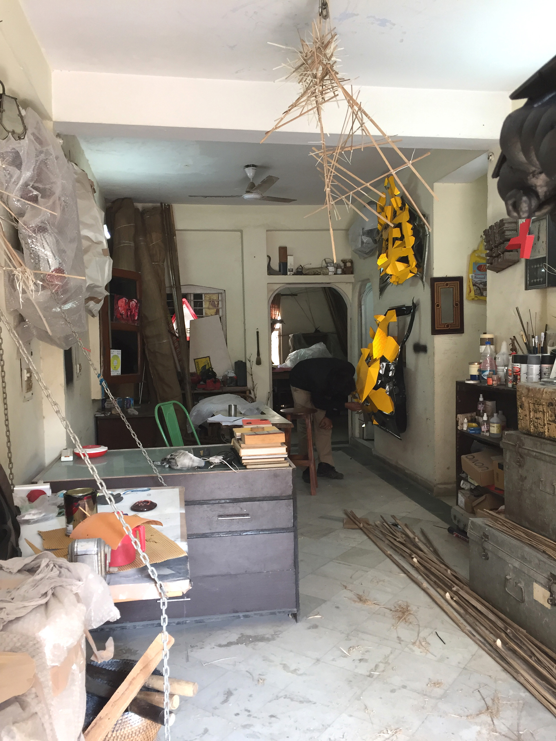 A glimpse of the artist's studio in New Delhi | Asim Waqif | STIR