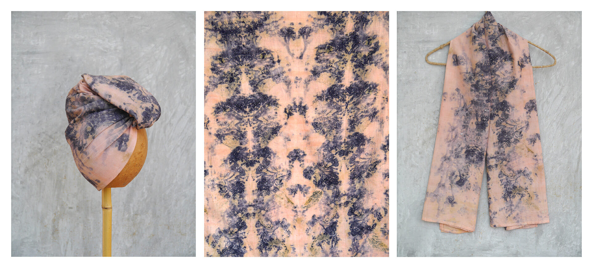 Bundle-dyed shawl with colourants derived from wild flowers | Made in Sri Lanka: Curated by Colomboscope | STIRworld
