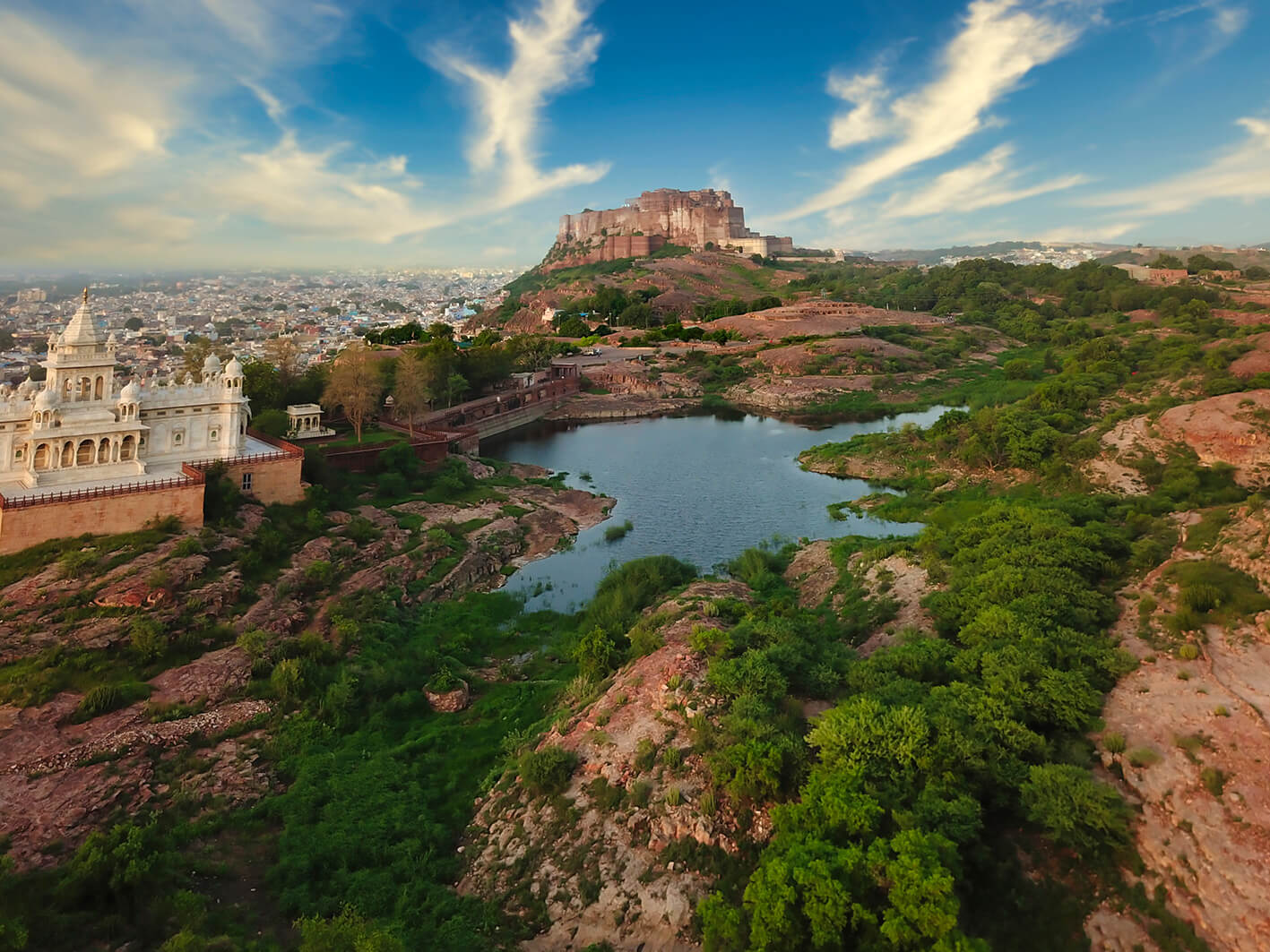 Rao Jodha Desert Rock Park in Jodhpur with Mehrangarh Fort in the background| Cross Border Conversations | Pradip Krishen X Prof. Anne Feenstra | STIR X LOCO Design