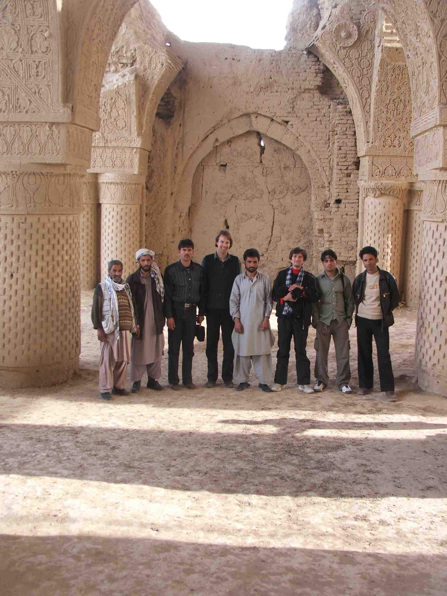 Feenstra (fourth from left) with his team 15 years ago at the 9th century Haji Piyada in Balkh, Afghanistan | Cross Border Conversations | Pradip Krishen X Prof. Anne Feenstra | STIR X LOCO Design