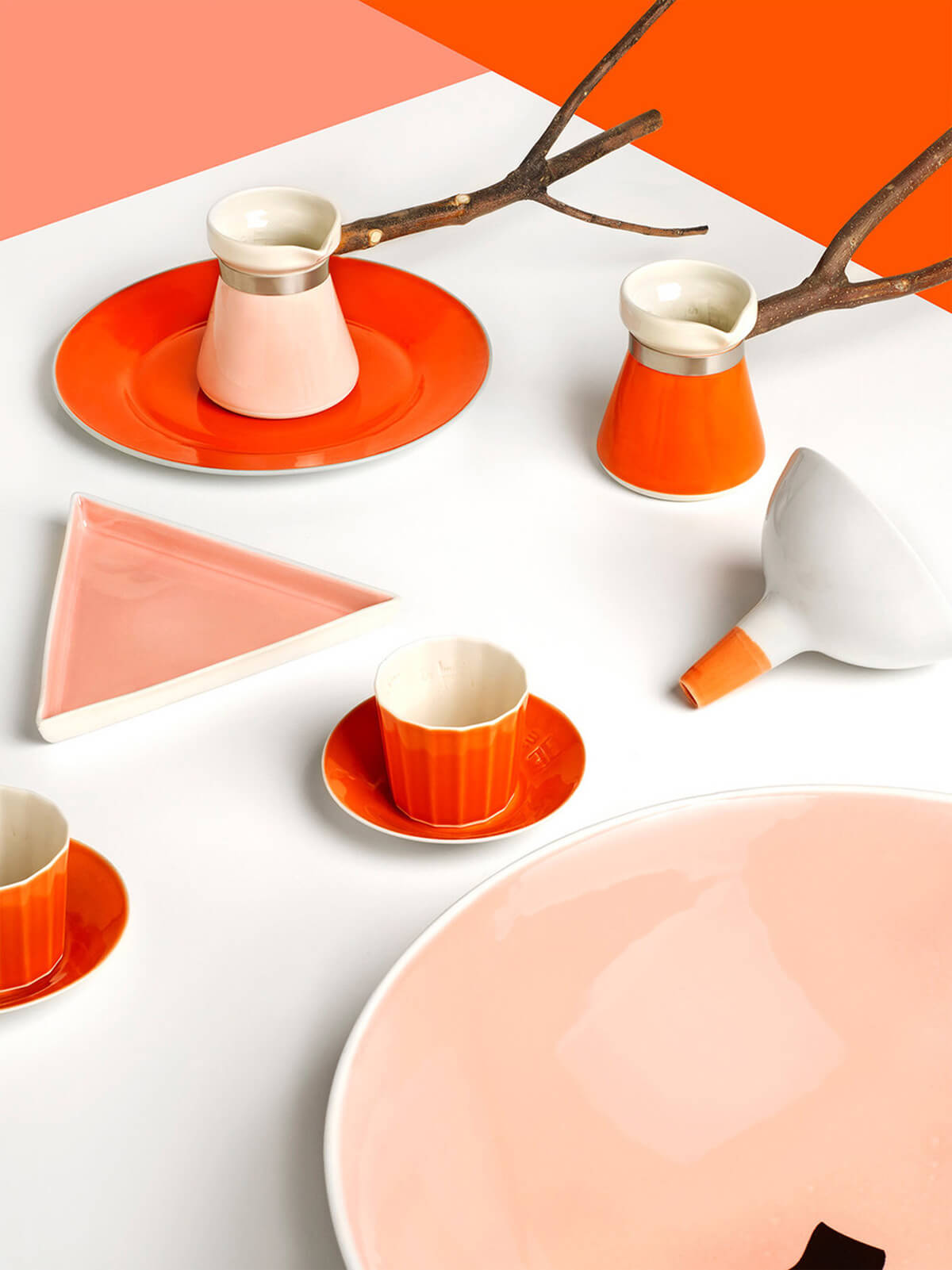 Santimetre Studio's colourful porcelain tableware collection | Made in Turkey: Curated by Arhan Kayar | STIRworld