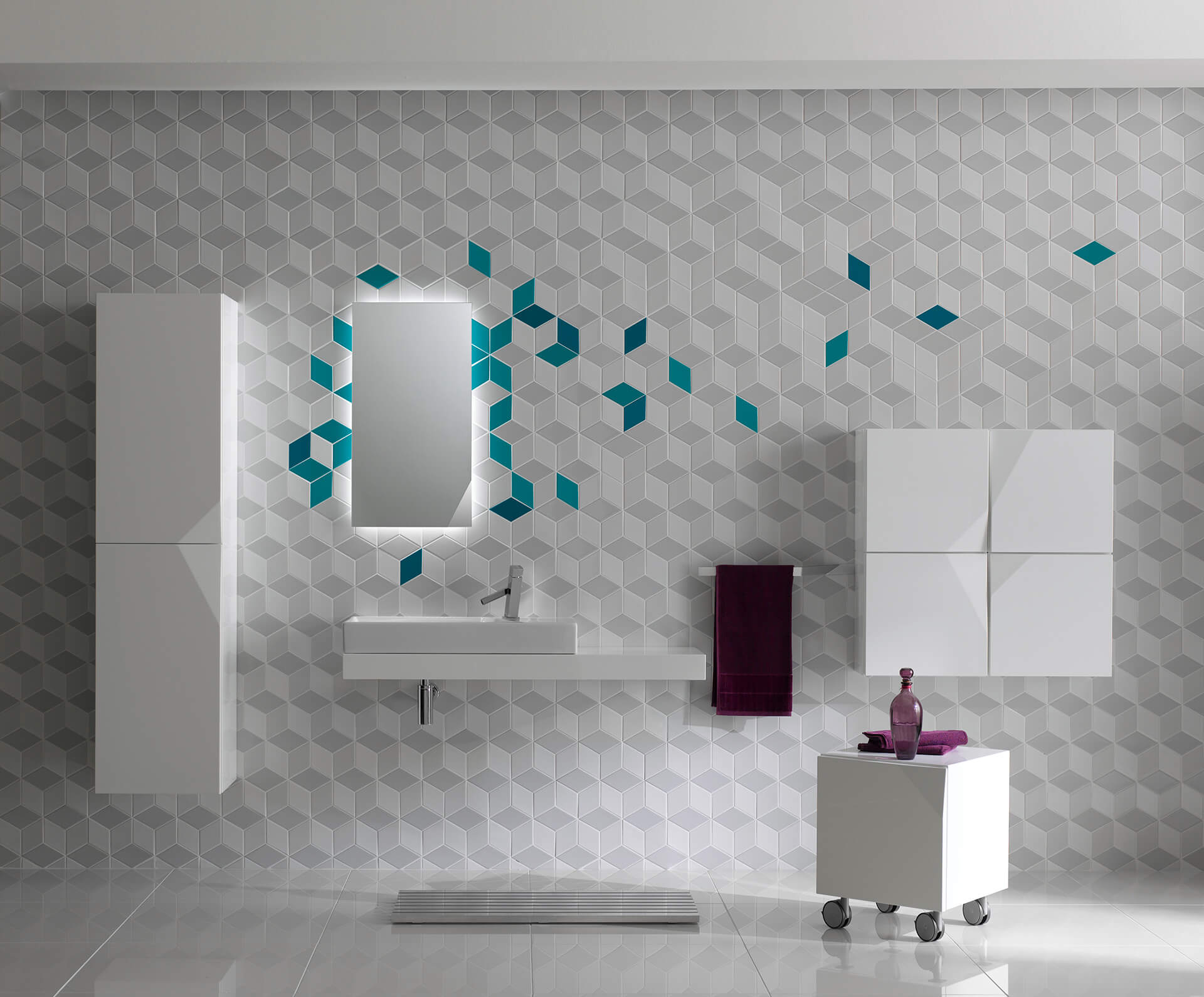 Cube tiles from Cube & Dot collection for KALE | Made in Turkey: Curated by Arhan Kayar | STIRworld