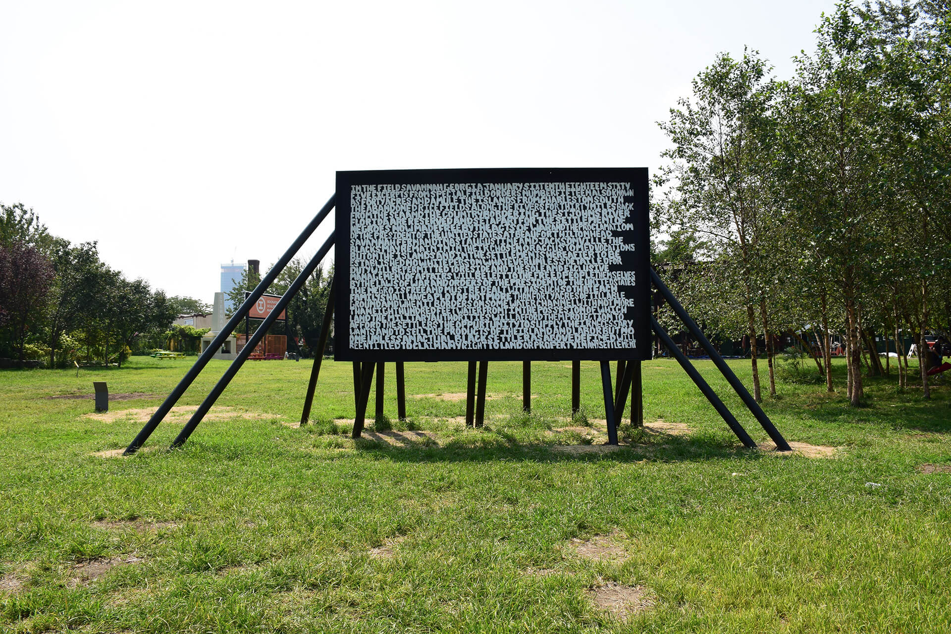 Xaviera Simmons; 'The structure the labor the foundation the escape the pause;' 2020. |In conversation: MONUMENTS NOW at Socrates Sculpture Park | STIRworld