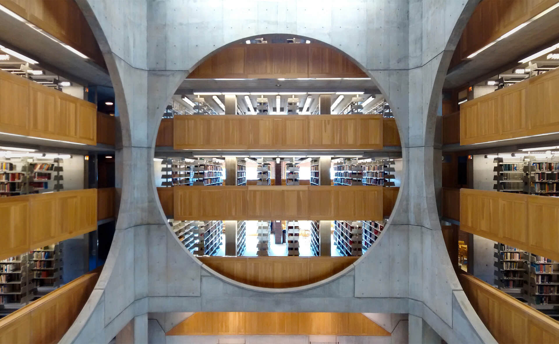 The distinctly circular voids of the Exeter Library by Louis Kahn | Louis Kahn Tribute, The Notebooks and Drawings of Louis I. Kahn | Louis Kahn, Designers and Books| STIRworld
