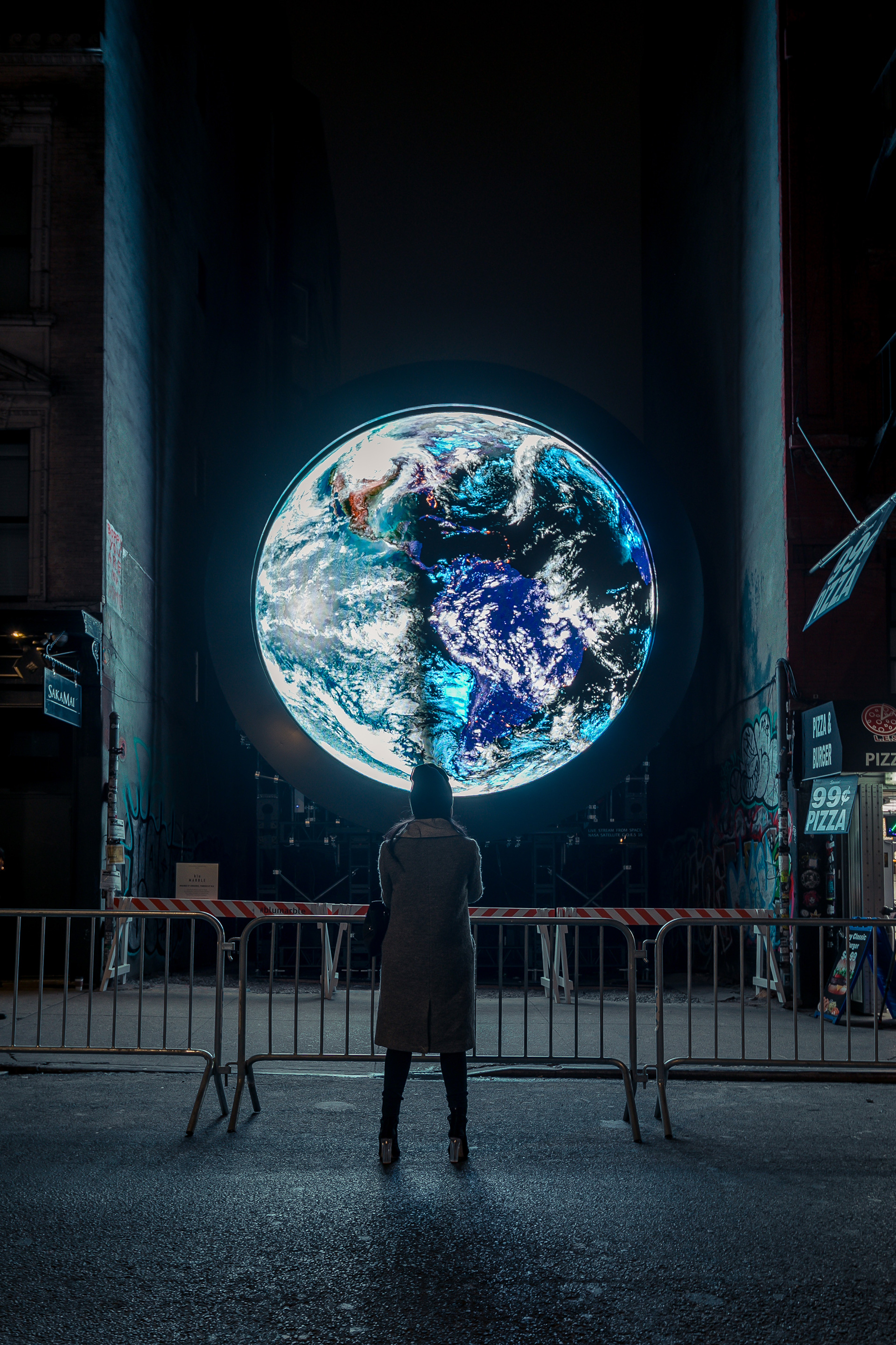 'blue marble' at 159 Ludlow Street in Manhattan | blue marble |  Sebastian Errazuriz | STIR