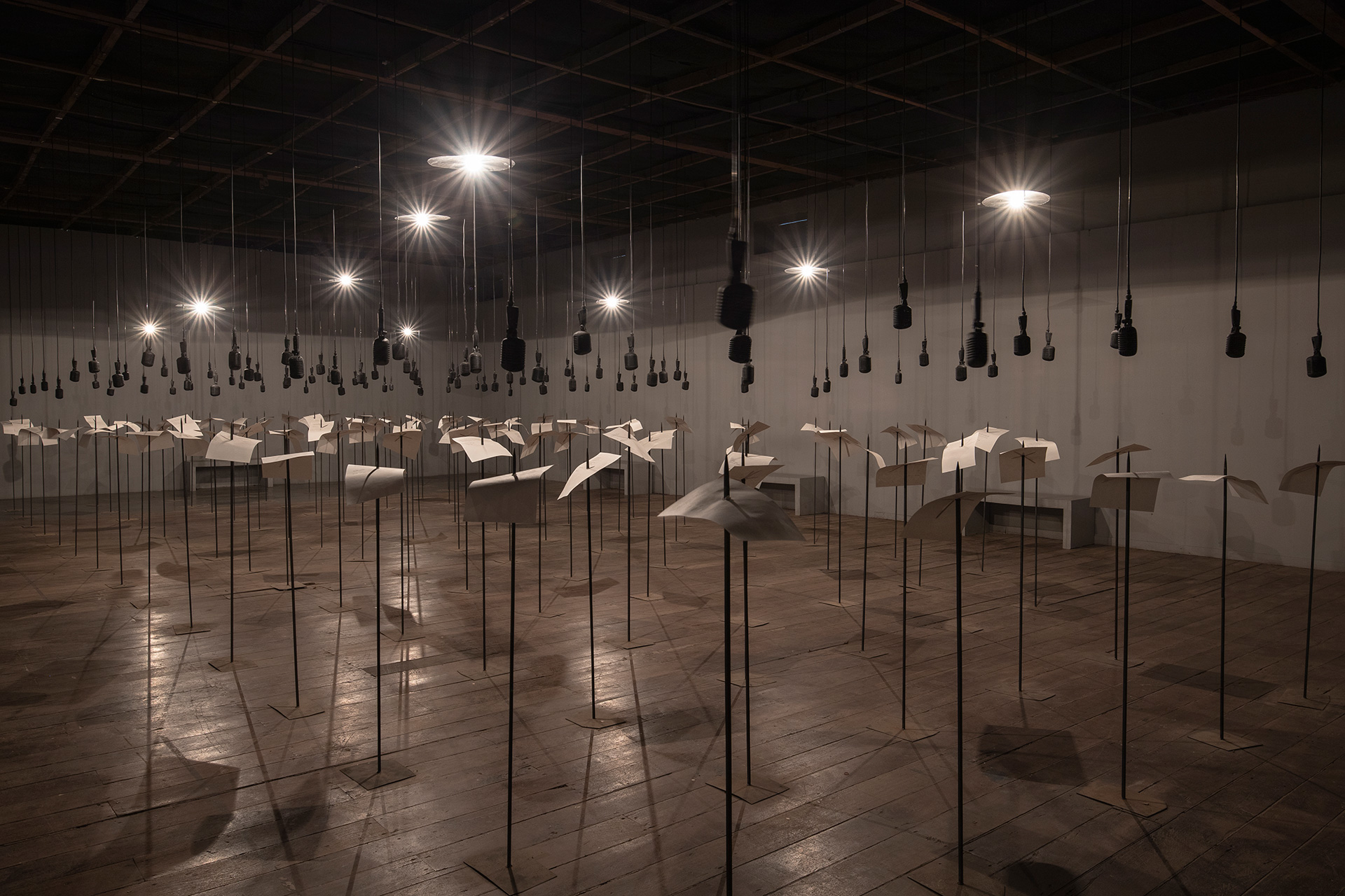 Shilpa Gupta's installation <em>For, In Your Tongue I Cannot Hide - 100 Jailed Poets</em> at the Kochi-Muziris Biennale| For, In Your Tongue I Cannot Hide - 100 Jailed Poets| Shilpa Gupta| STIR