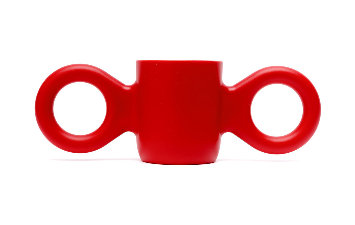 Dombo mug - a cheerful drinking cup with big ears as handles, designed for Gispen (2000)| Cross Border Conversations| Richard Hutten, Rupesh Baid| STIR
