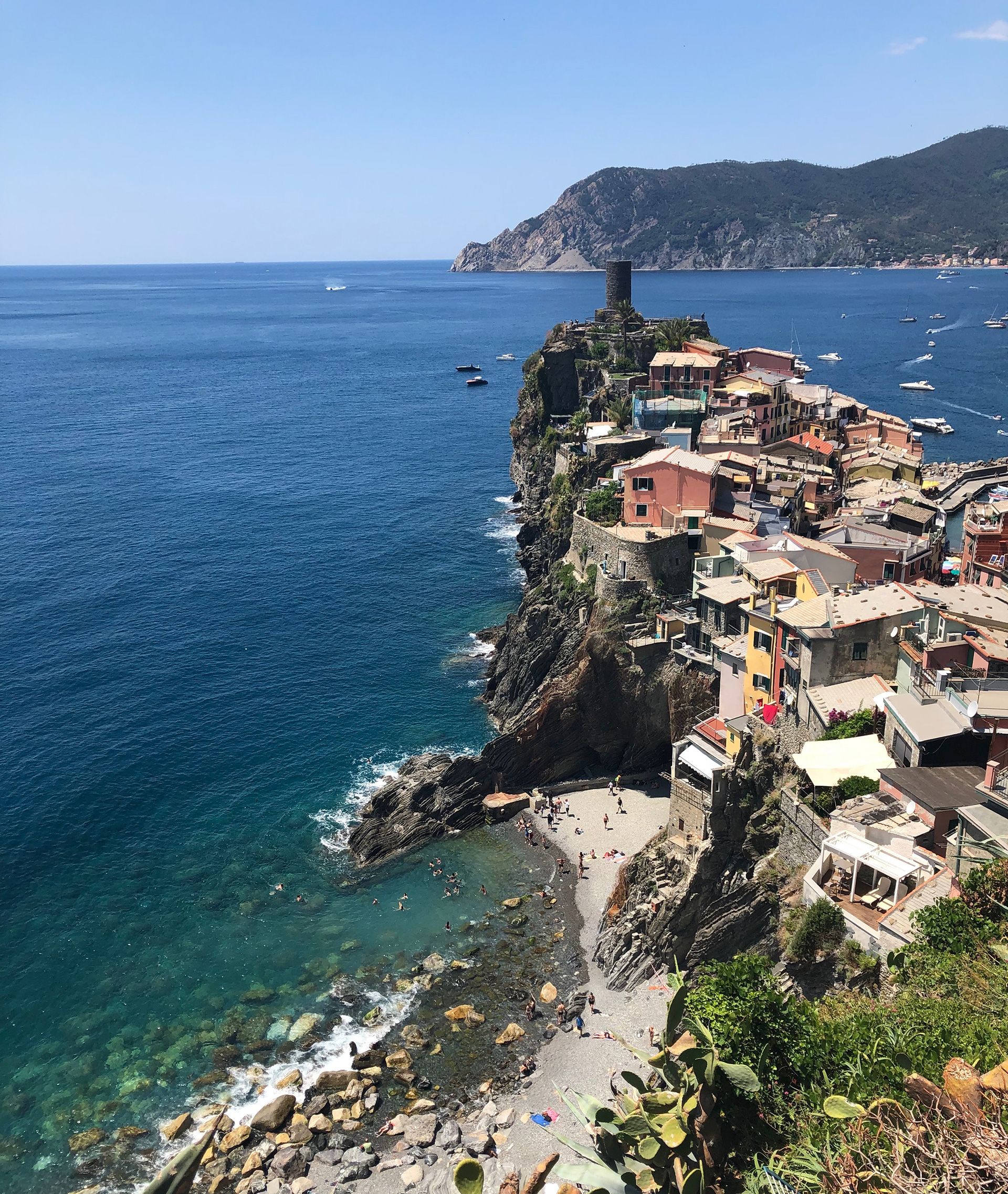 Cinque Terre's varicolored homes hoisted on jagged hills against the sea | Cinque Terre| Italy| STIR