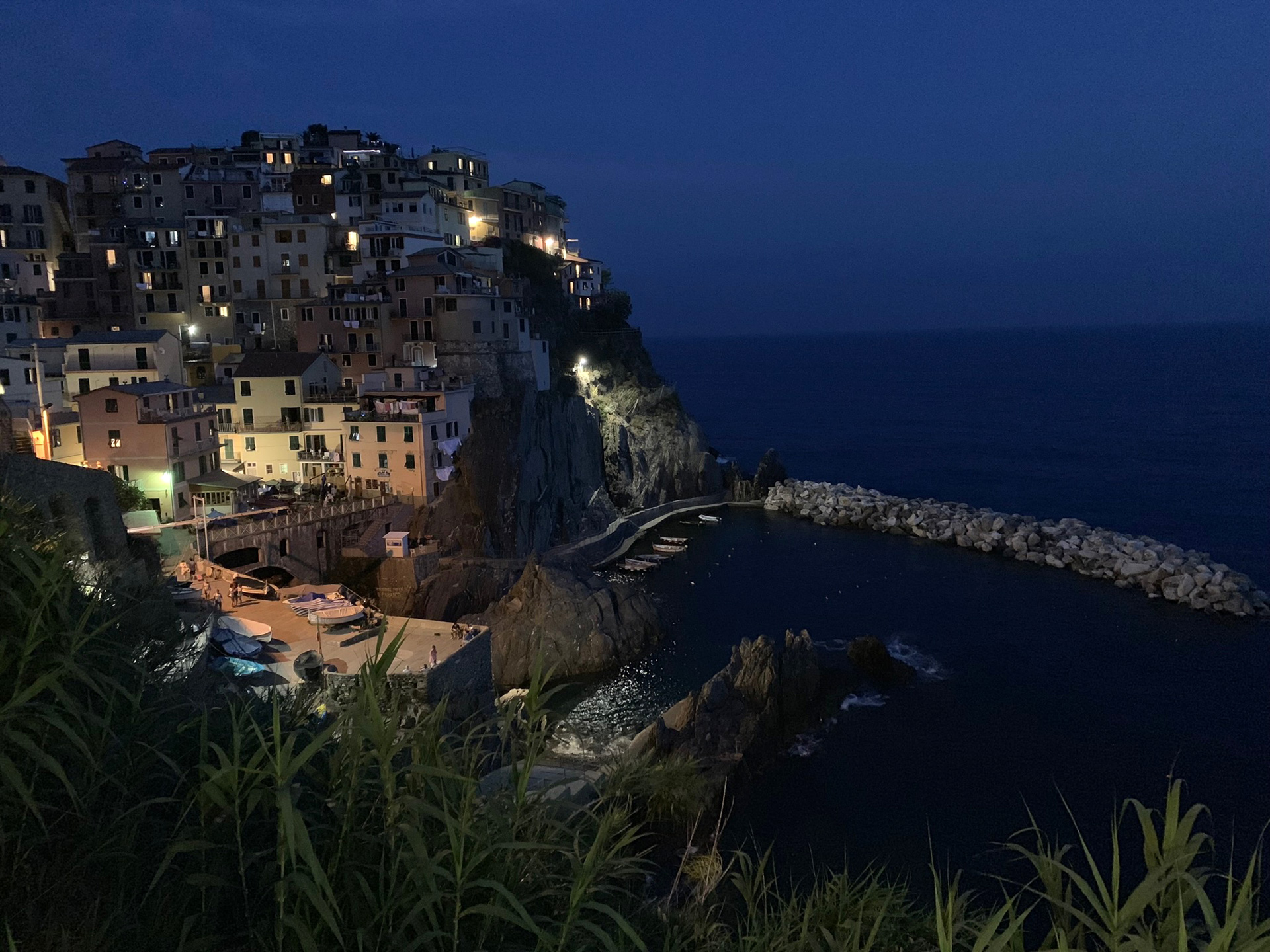 The village of Manarola at night | Cinque Terre| Italy| STIR