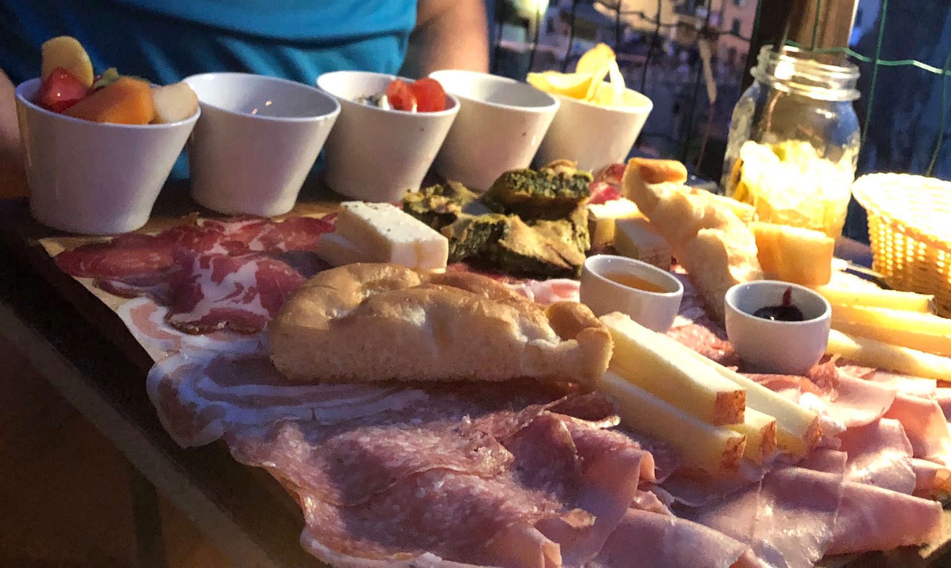 Platter of food at Nessun Dorma restaurant | Cinque Terre| Italy| STIR