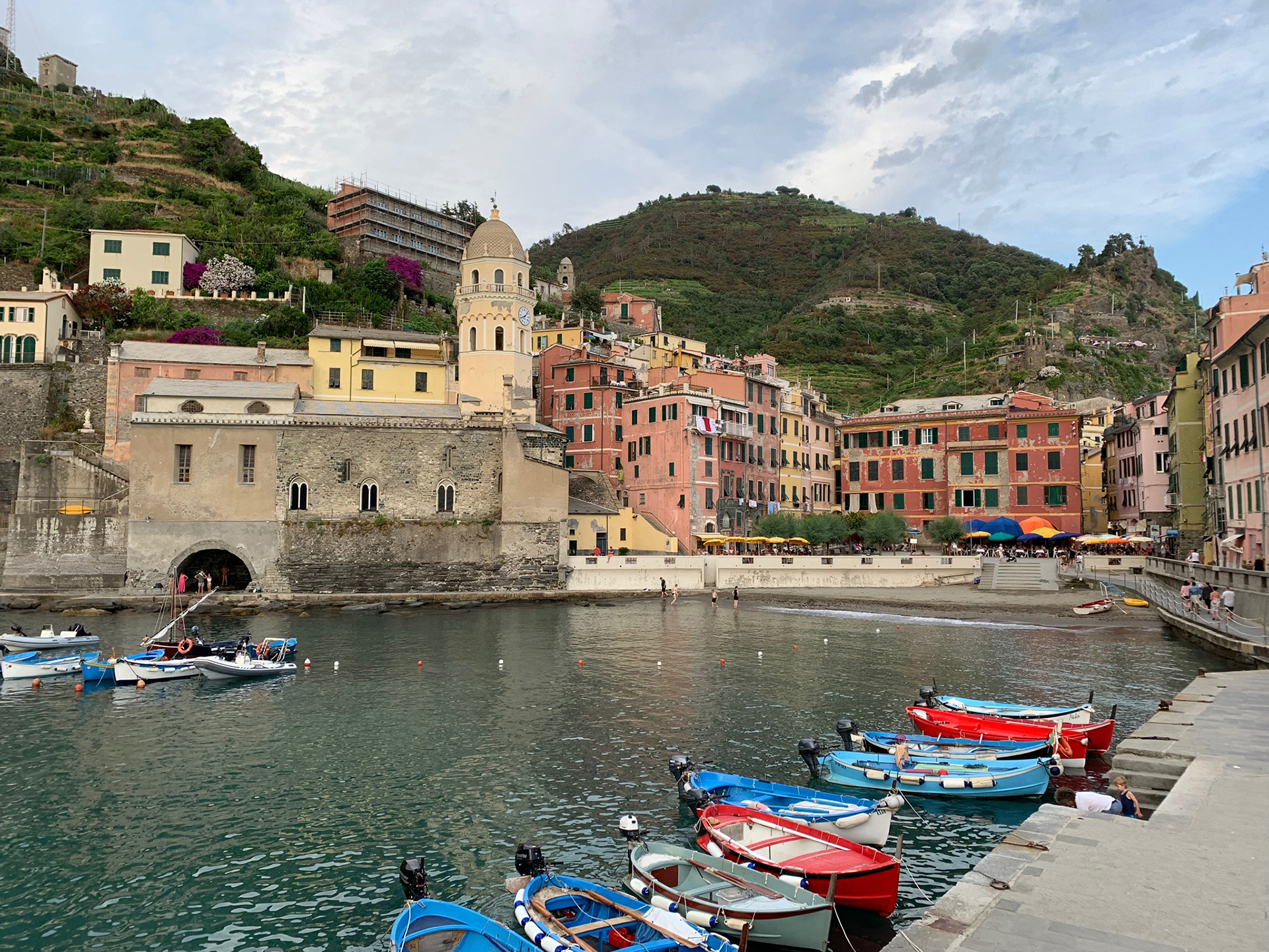 Boats in the village of Vernazza | Cinque Terre| Italy| STIR