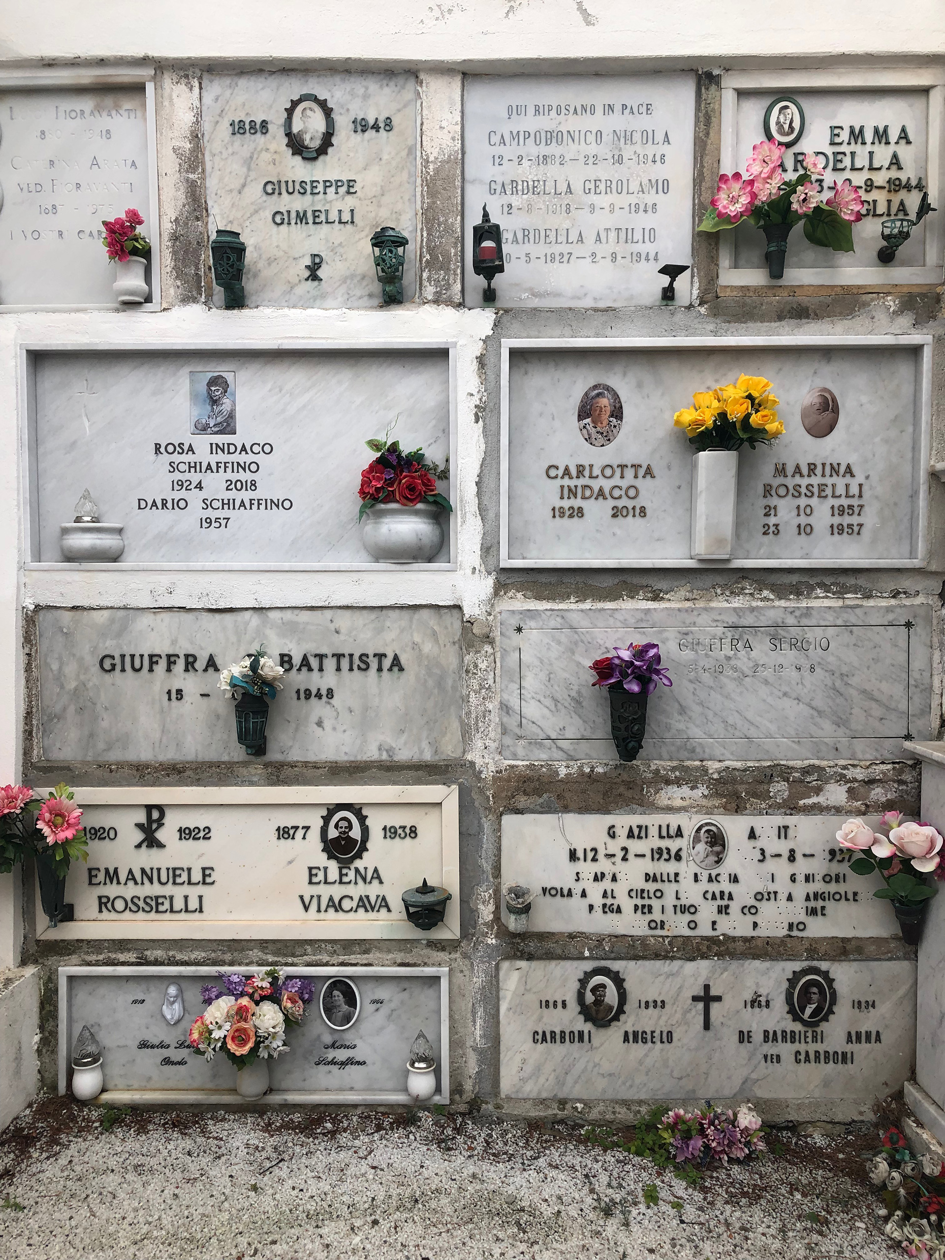Cased-in marble tomb stones at the cemetery | Cinque Terre| Italy| STIR