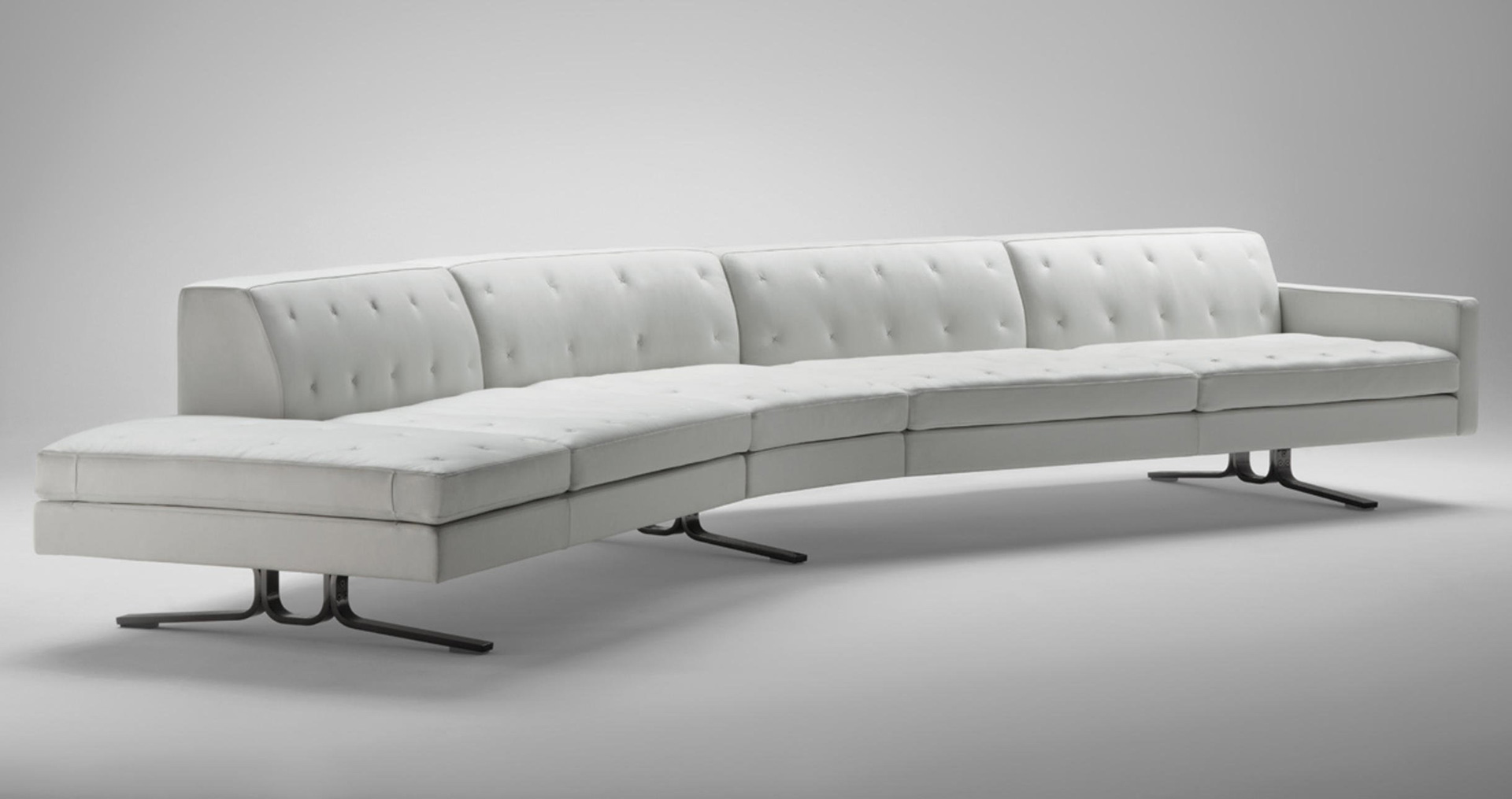 A modular sofa from the Kennedee furniture system, designed by Jean-Marie Massaud| Cross Border Conversations| Rajiv Parekh, Jean-Marie Massaud | STIR