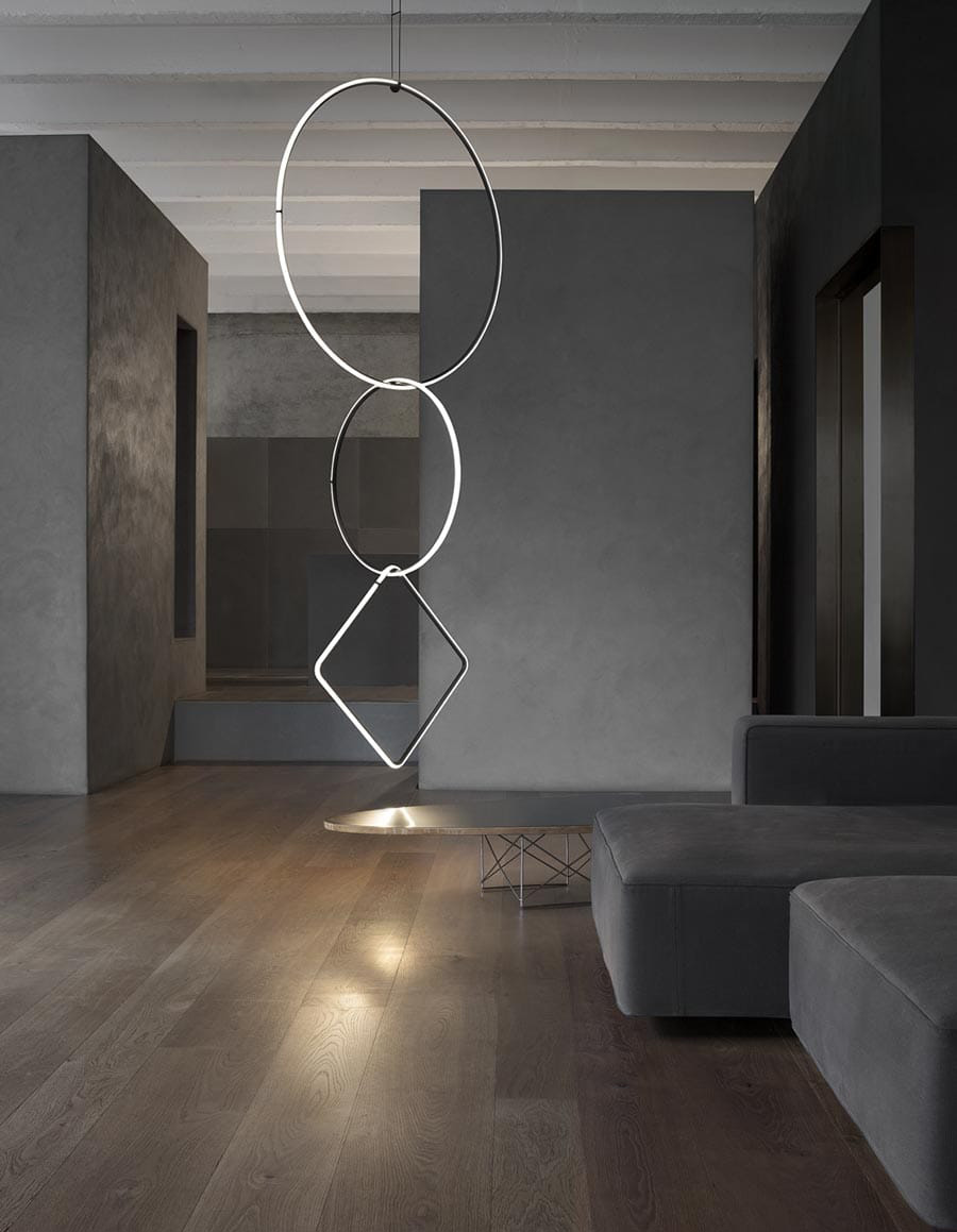 : Arrangements - Dimmable Modular Pendant Light | Cross Border Conversations| Michael Anastassiades, Seema Puri Mullan | STIR