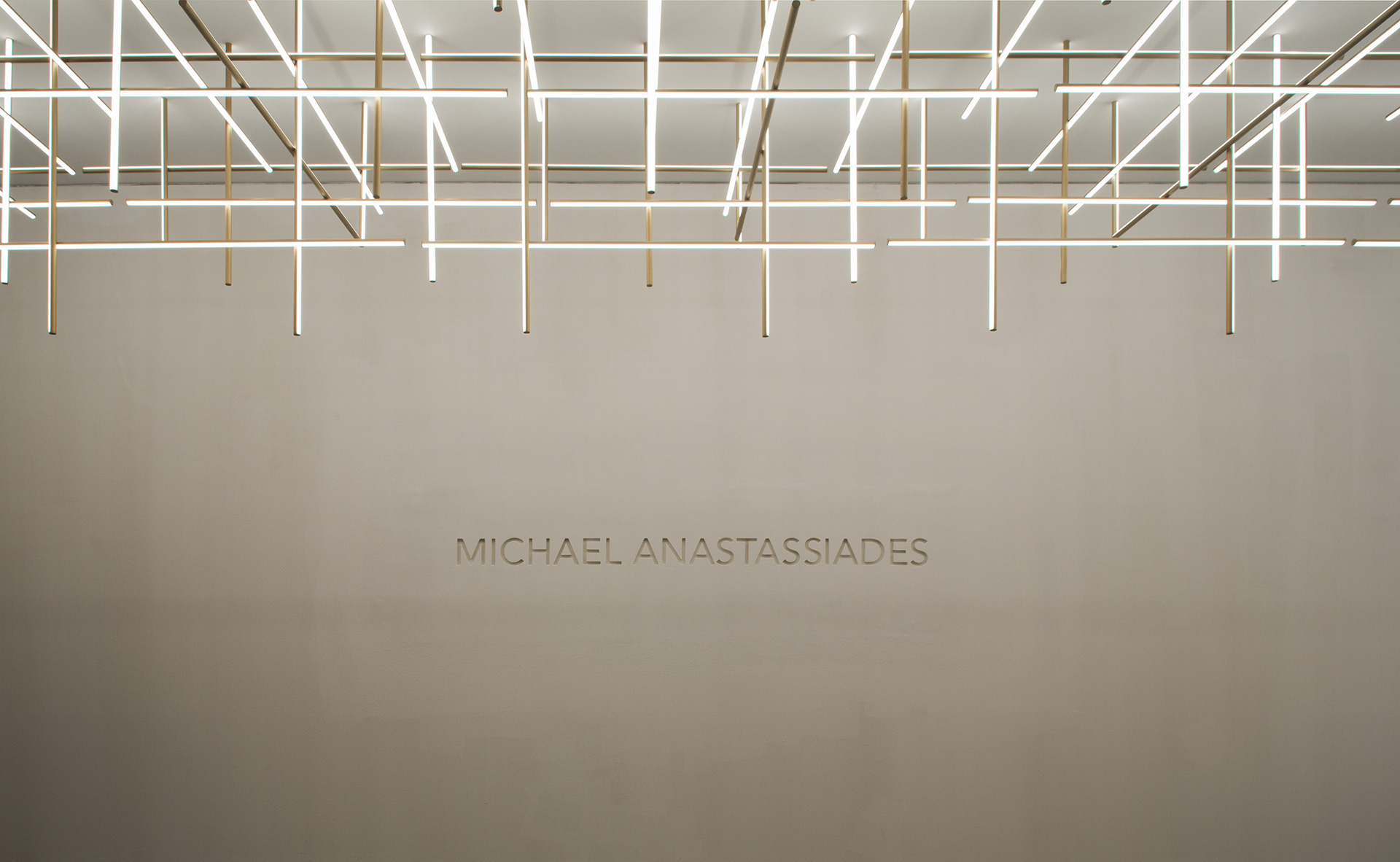 Coordinates – grid like strip lights; by Michael Anastassiades;  by Michael Anastassiades | Cross Border Conversations | Michael Anastassiades, Seema Puri Mullan | STIR