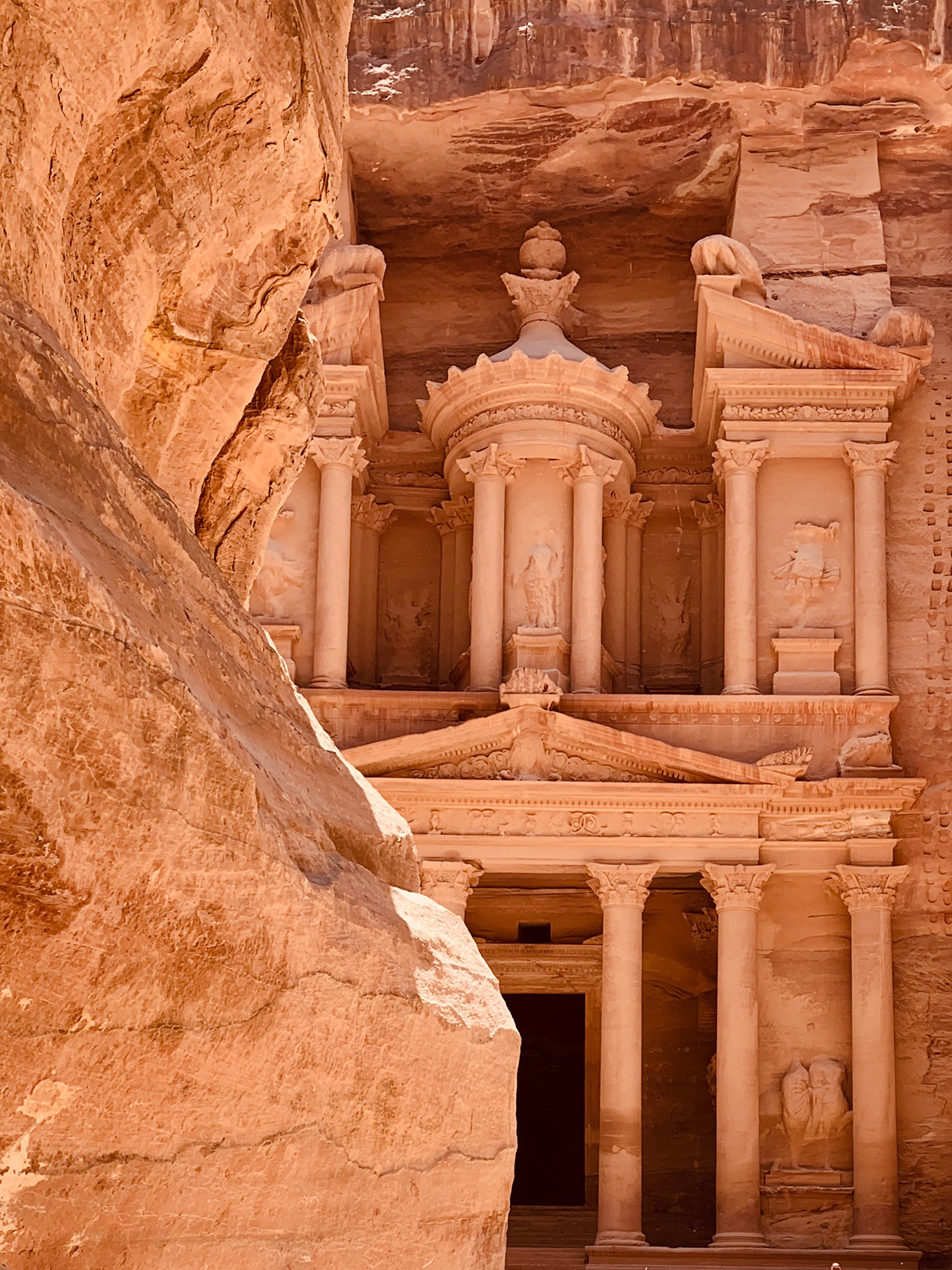 Temples, tombs and caves in Petra are carved from blushing pink sandstone cliffs | Petra, Jordan | Sandeep and Tania Khosla| STIRworld