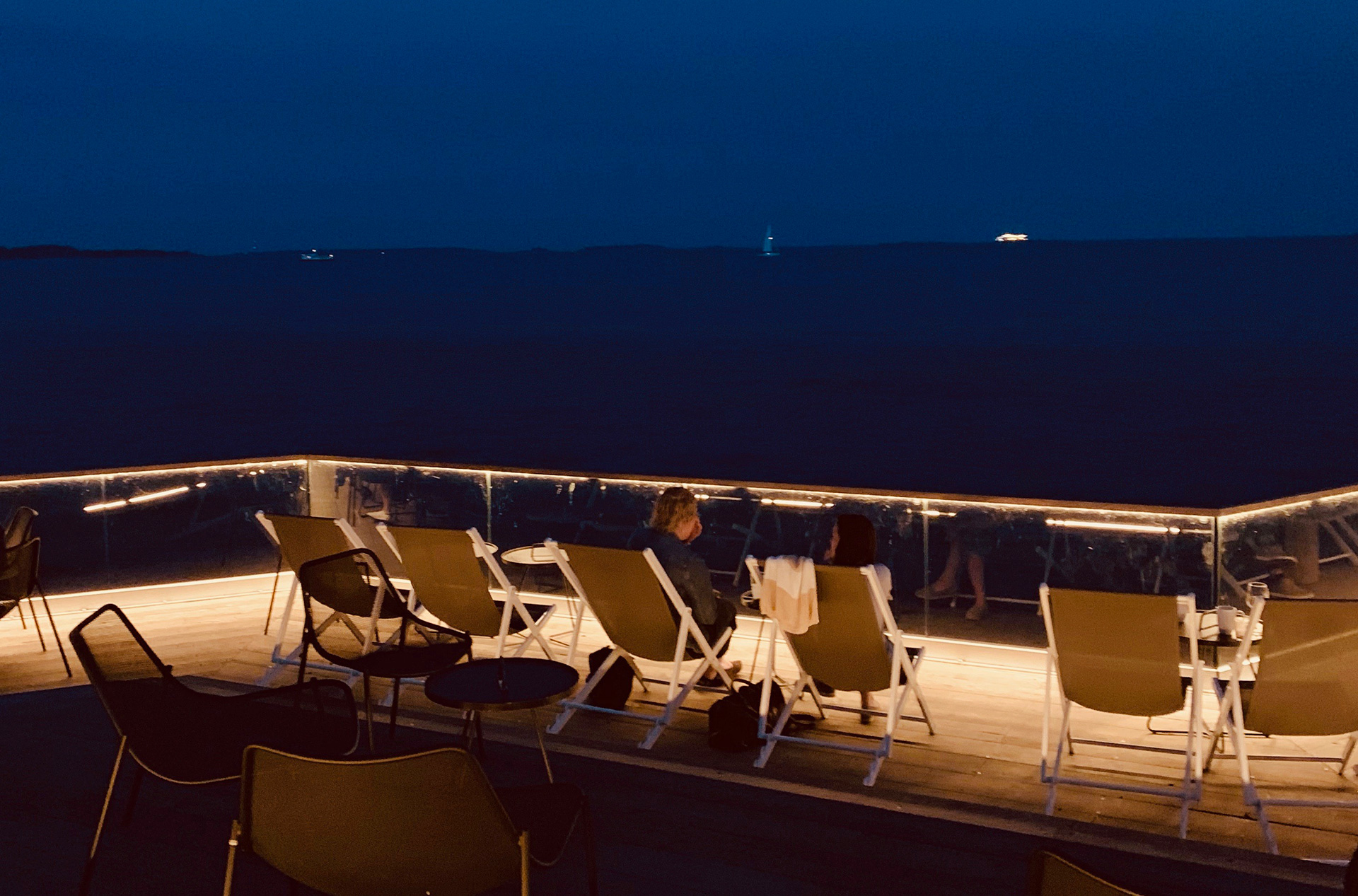 View of the sea by nightfall from the Loyly rooftop | Helsinki | Finland| STIRworld
