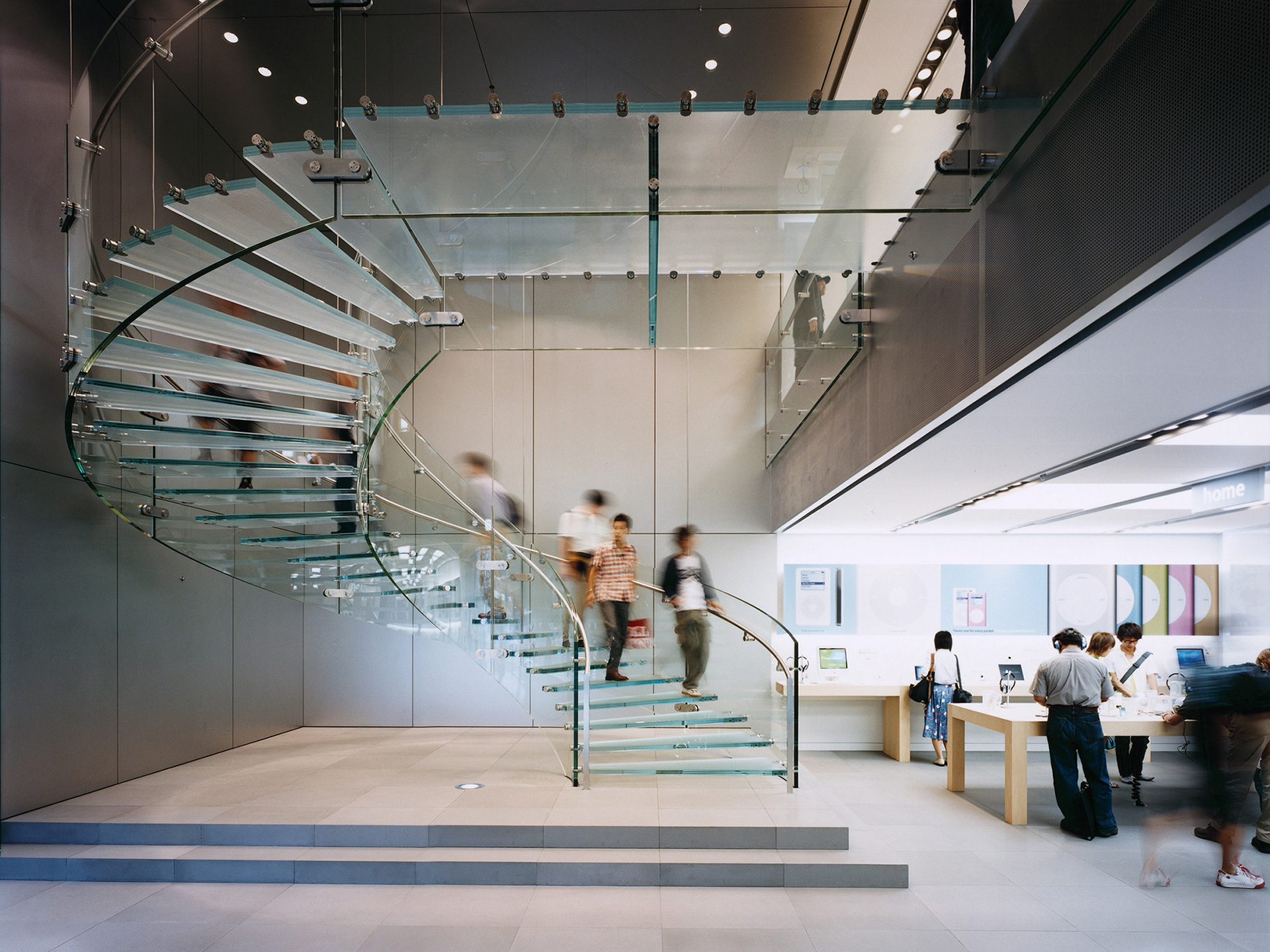 Apple stores are defined by minimalist interiors with a special focus on user experience | Tim Kobe | Eight Inc. | STIRworld