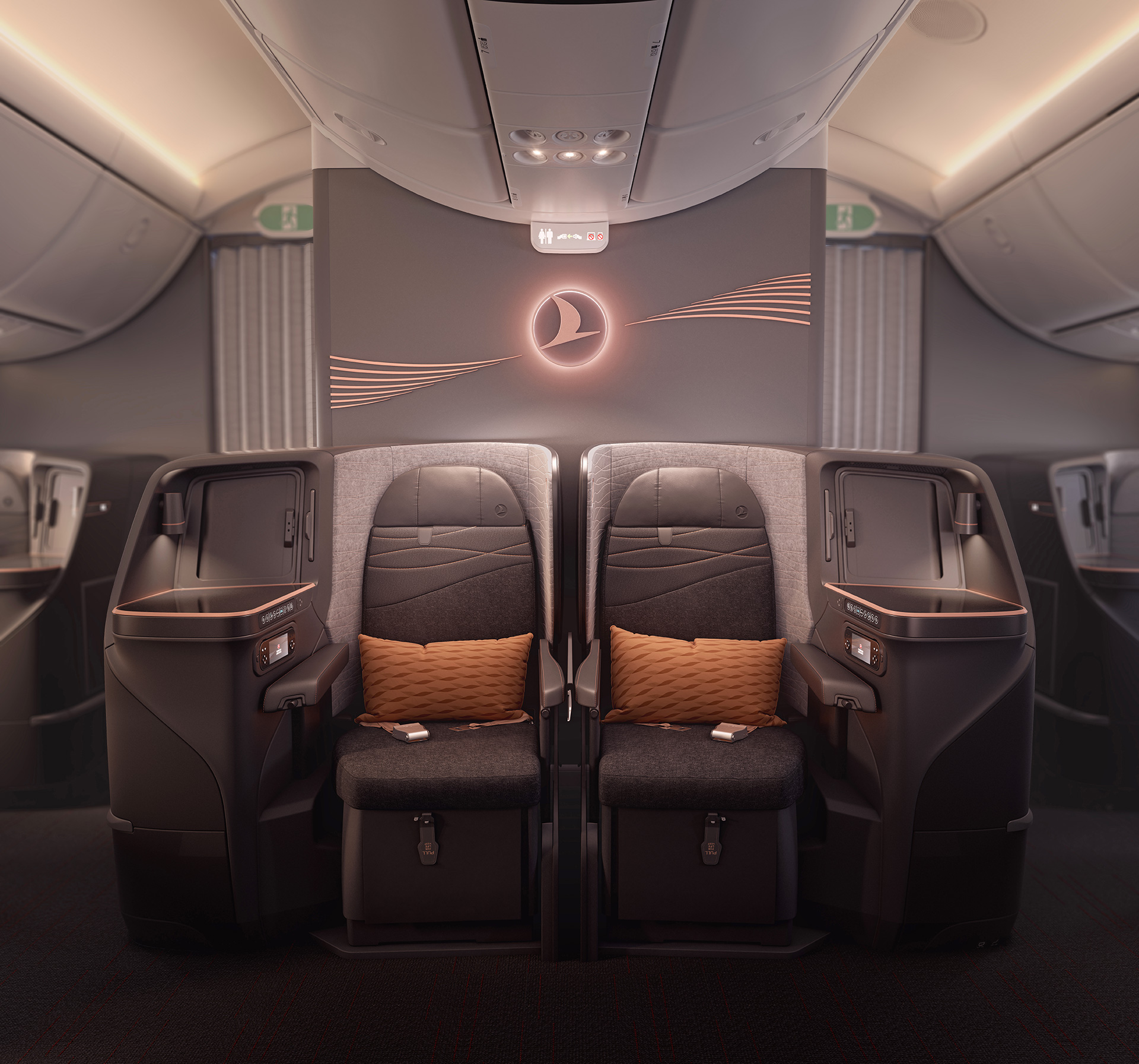 Cabin interior design for Turkish Airlines by PriestmanGoode | Paul Priestman | PriestmanGoode | STIRworld