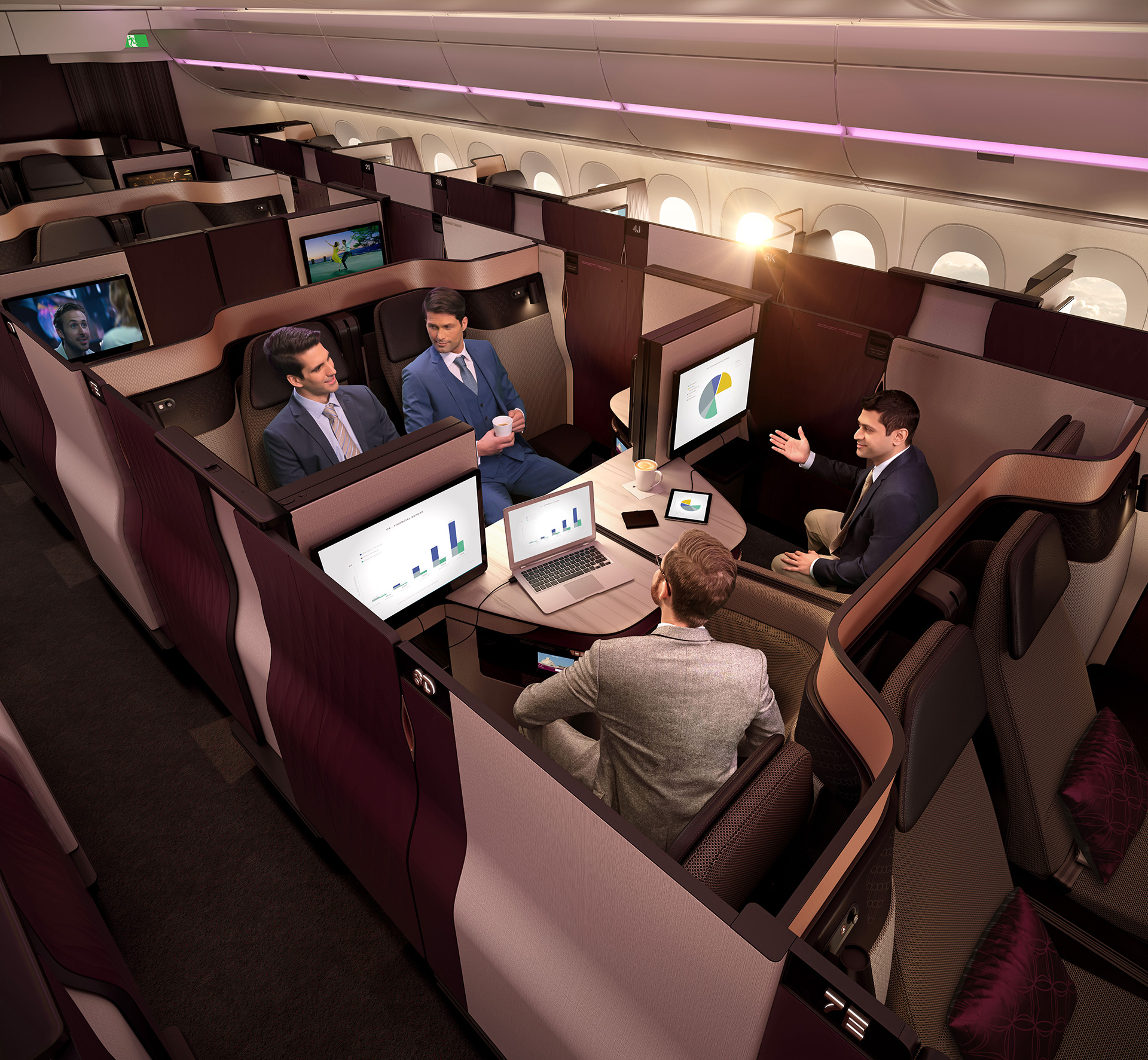 Qatar Airways' QSuite designed by PriestmanGoode and Qatar Airways | Paul Priestman | PriestmanGoode | STIRworld