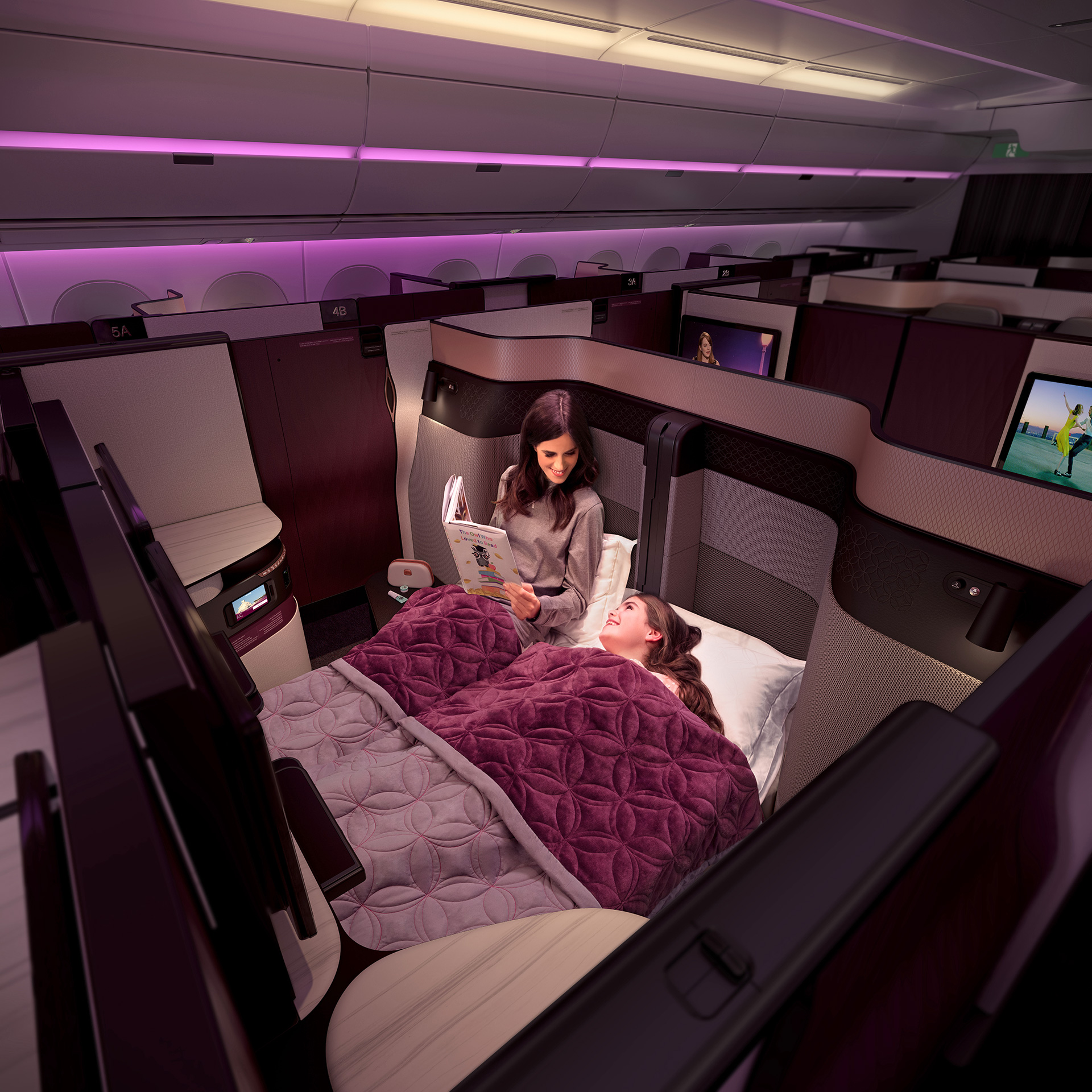 The level of privacy in Qatar Airways seats designed by PriestmanGoode and Qatar Airways can be adjusted at the touch of a button | Paul Priestman | PriestmanGoode | STIRworld