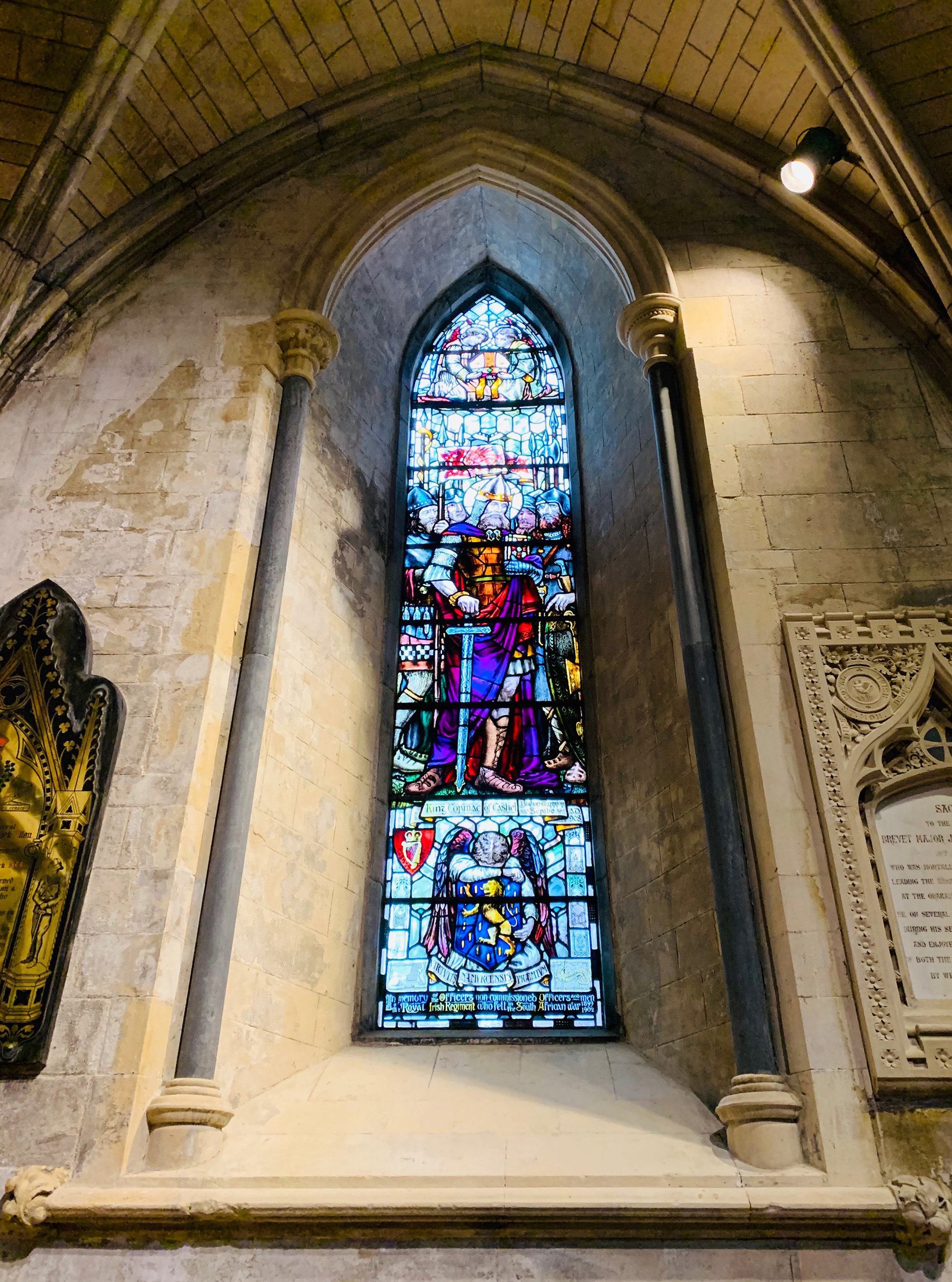 Stained glass window in St. Patrick's cathedral | Dublin | STIRworld