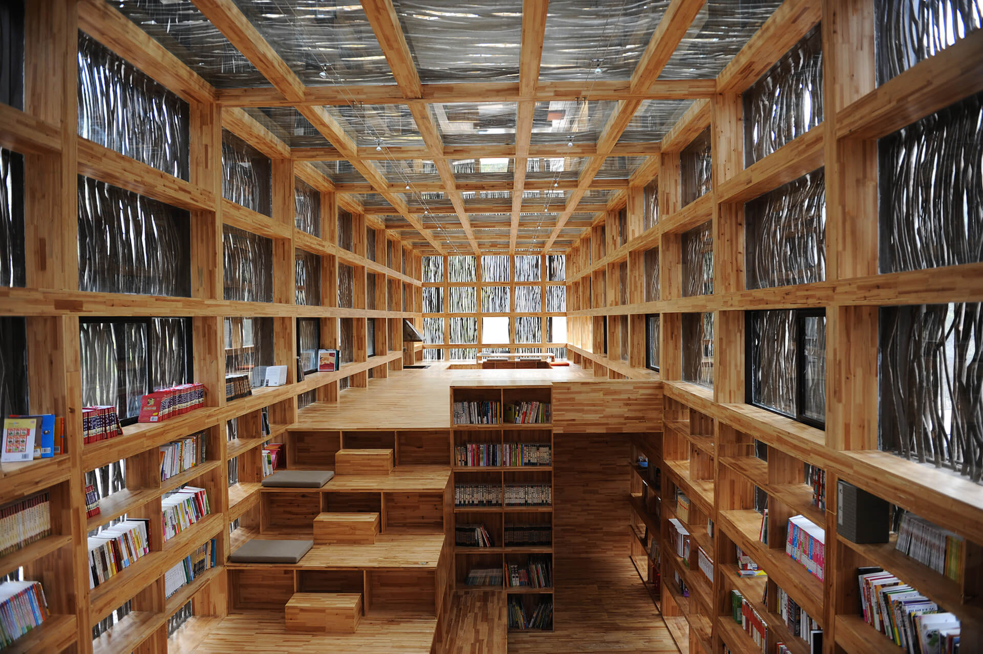 Liyuan Library is encompassed within a mountainous and forested landscape | Li Xiadong | STIRworld