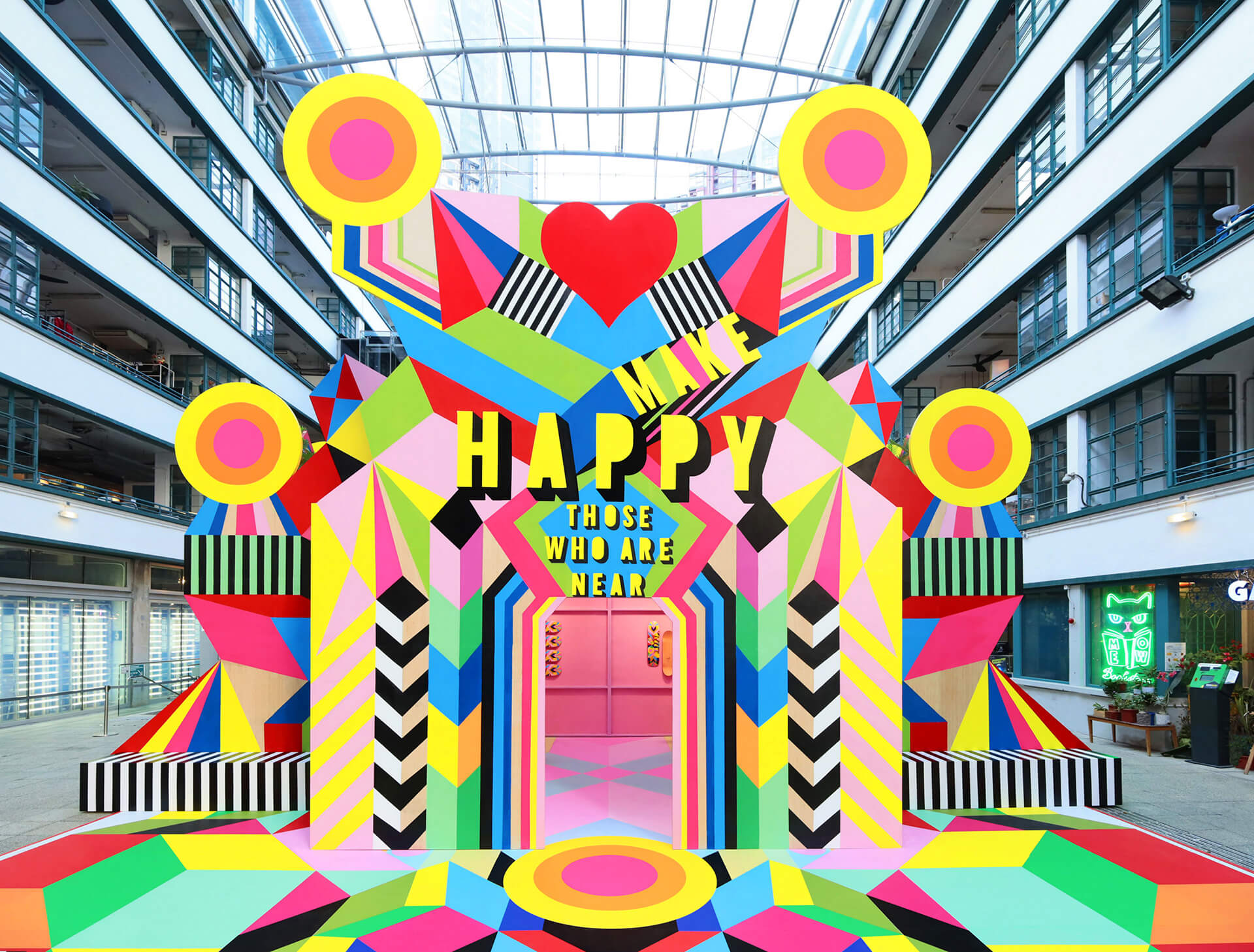 Morag Myerscough's large-scale installation Make Happy in Hong Kong, inspired from a Chinese proverb | Morag Myerscough | Women in Design 2020 + | STIRworld